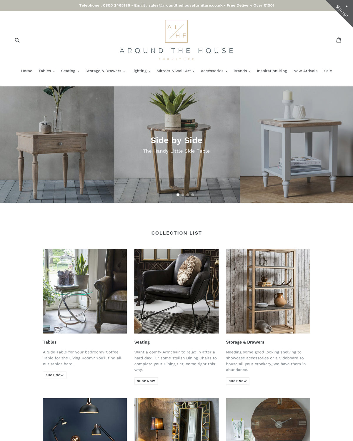 . Buy Around The   Website For Sale   Home and furniture Business