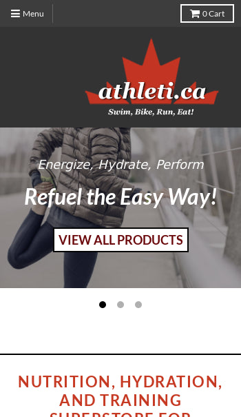 Athleti.ca - Online Sports Nutrition and Accessory store Screenshot - 2