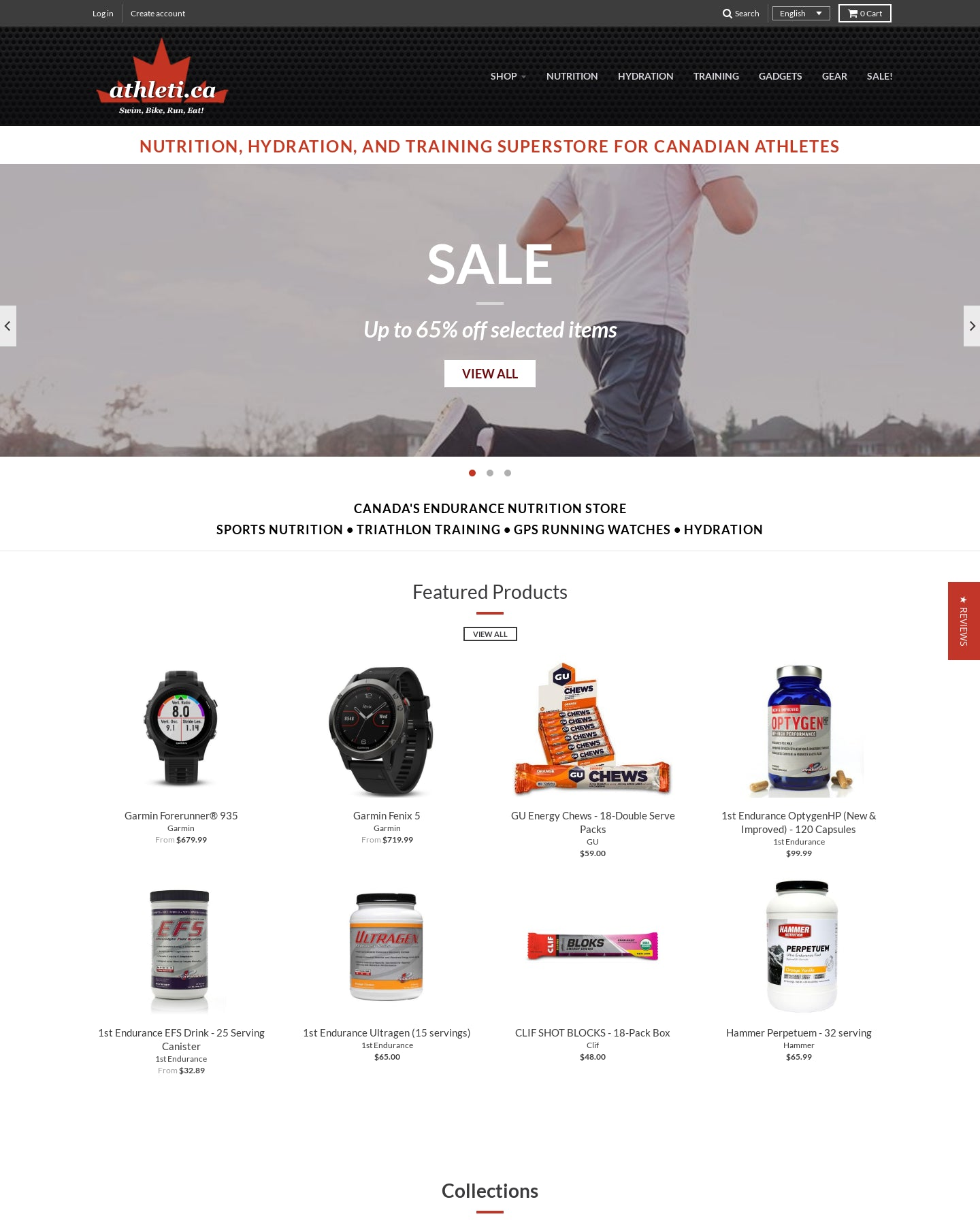 Athleti.ca - Online Sports Nutrition and Accessory store Screenshot - 1