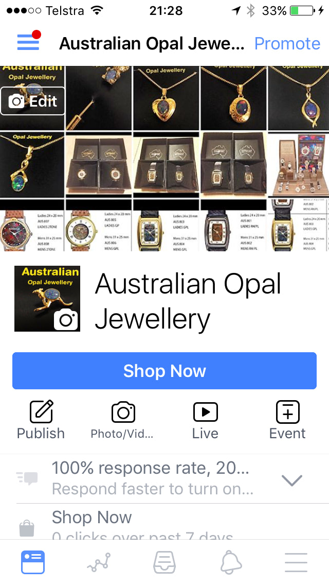 Australian Opal Watches & Jewellery Screenshot - 3