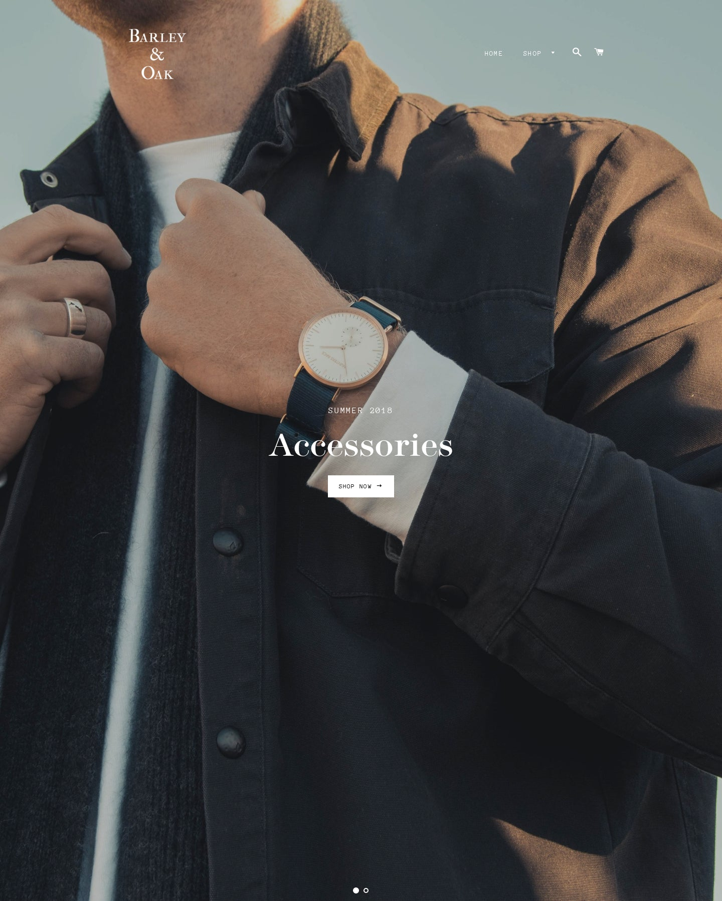 Barley and Oak | High End Men's Fashion Website Screenshot - 1