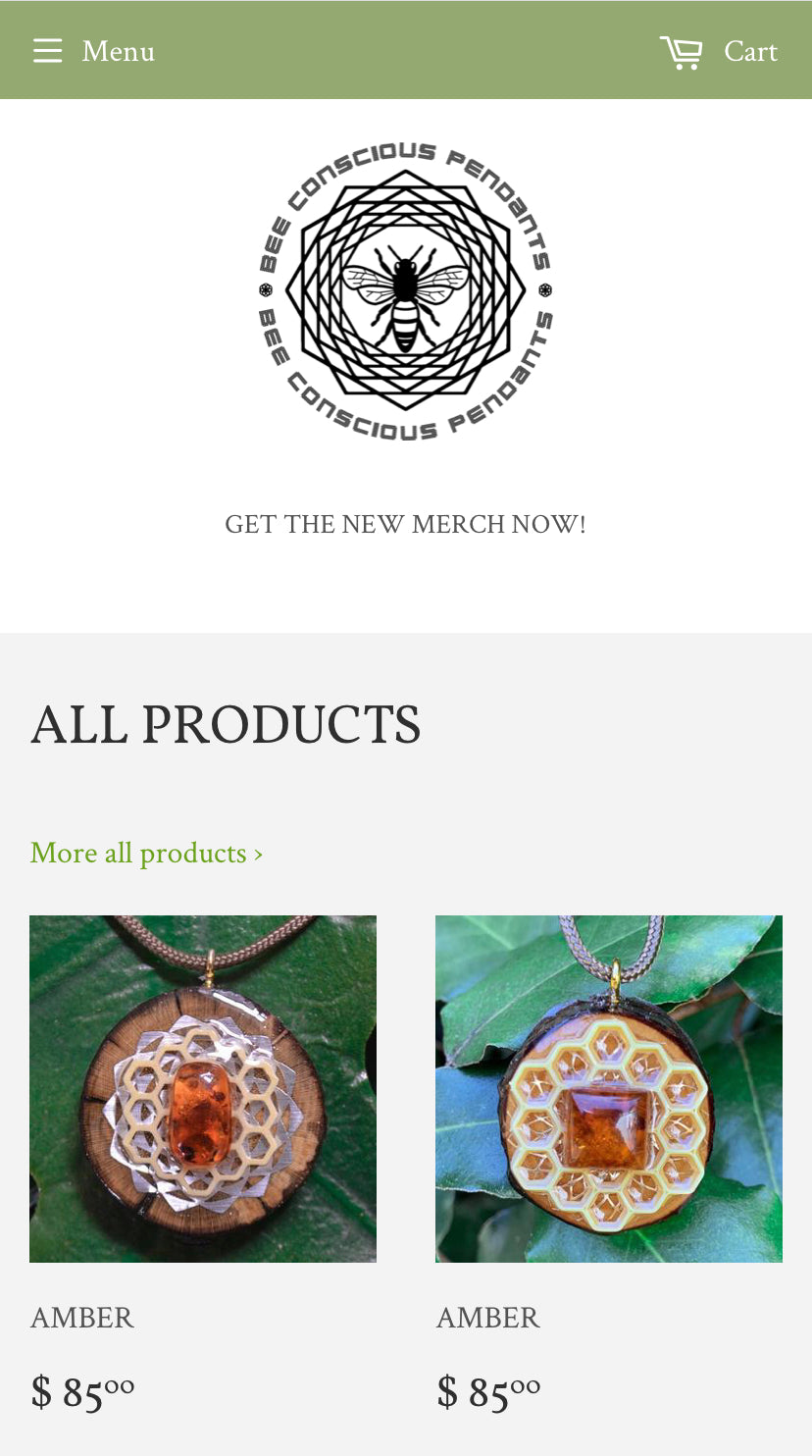 BEE CONSCIOUS PENDANTS For Sale | Buy an Online Business