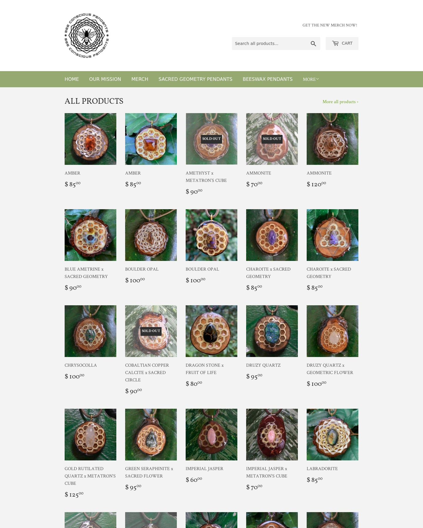 BEE CONSCIOUS PENDANTS Screenshot - 1