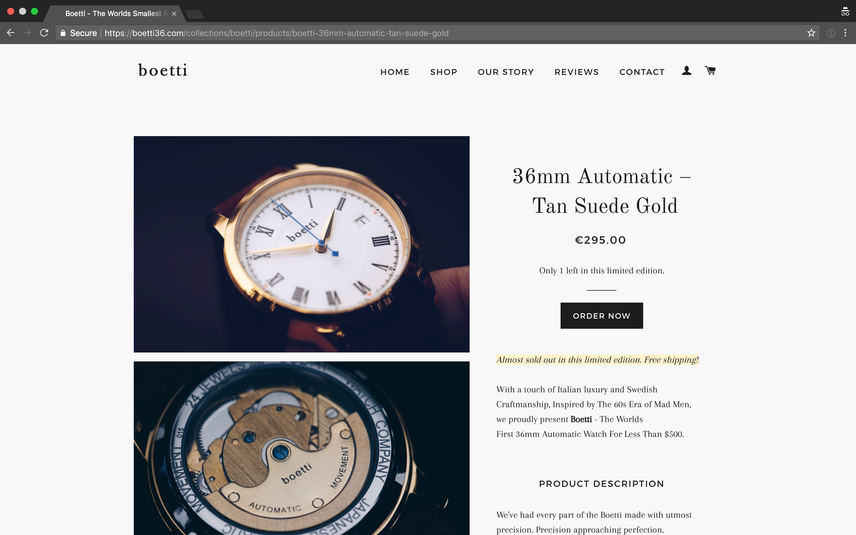 Boetti - The Worlds First 36mm Automatic Watch For Men Screenshot - 3