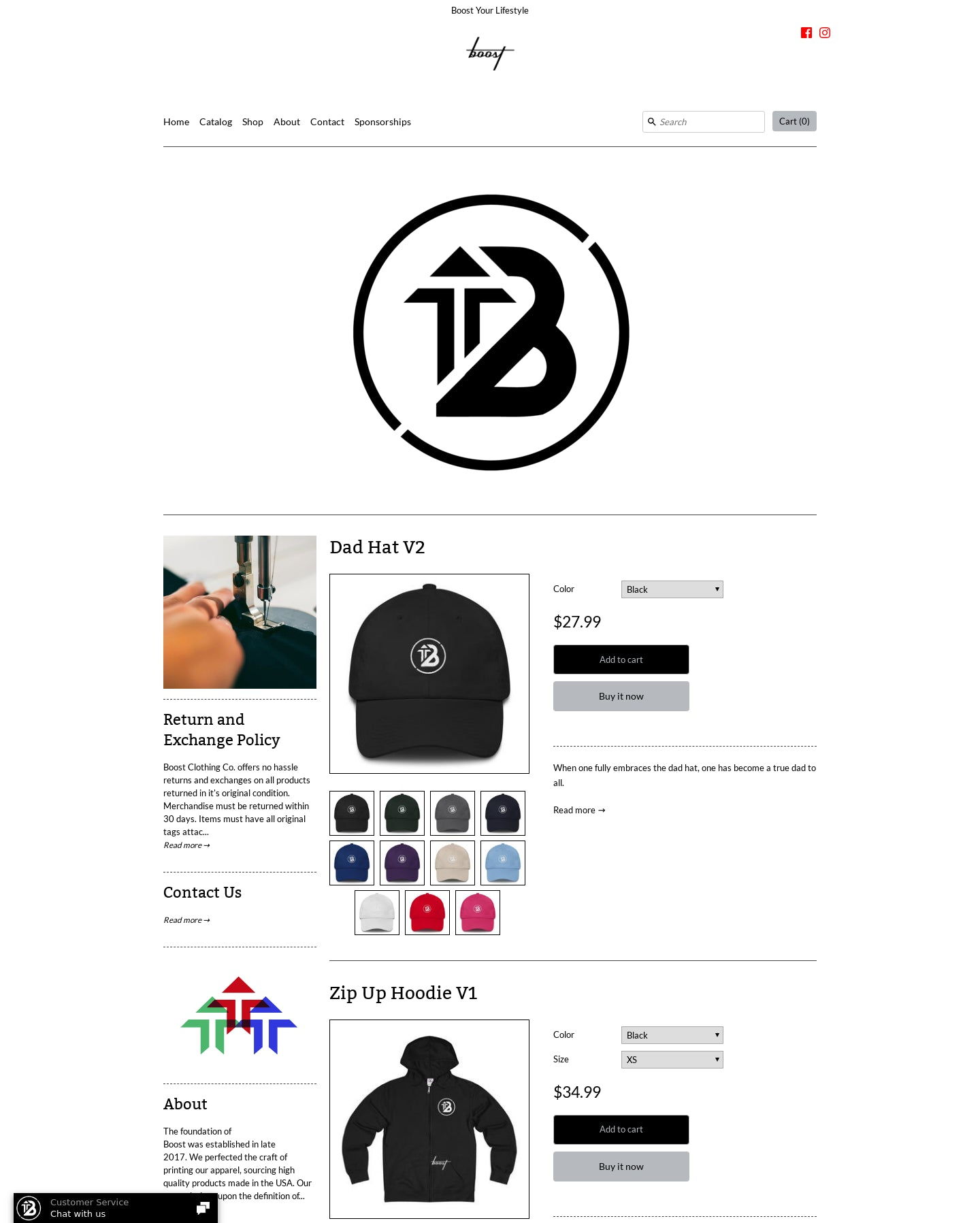 Boost Clothing Co. | SHOP Screenshot - 1