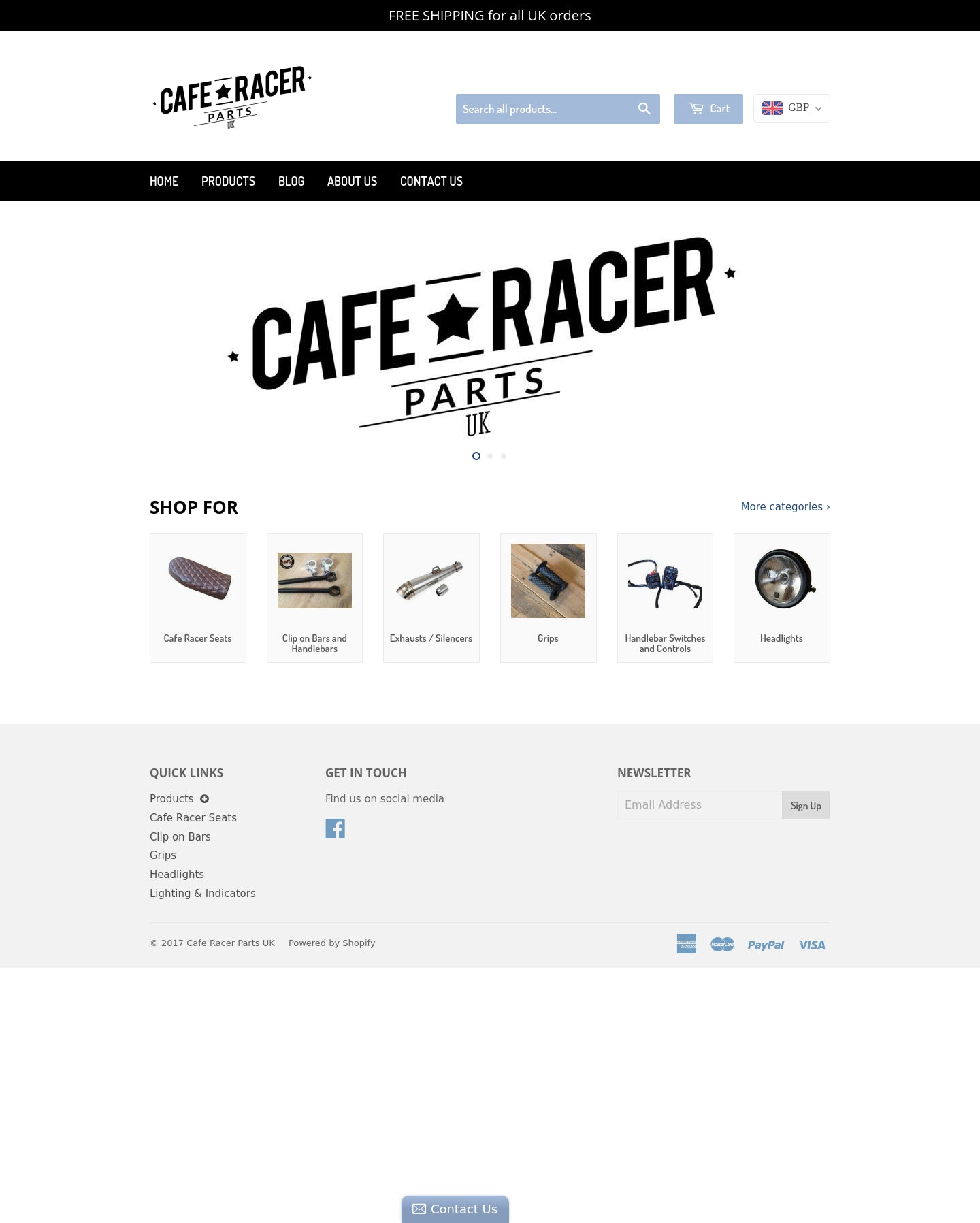 Cafe Racer Parts UK Screenshot - 1