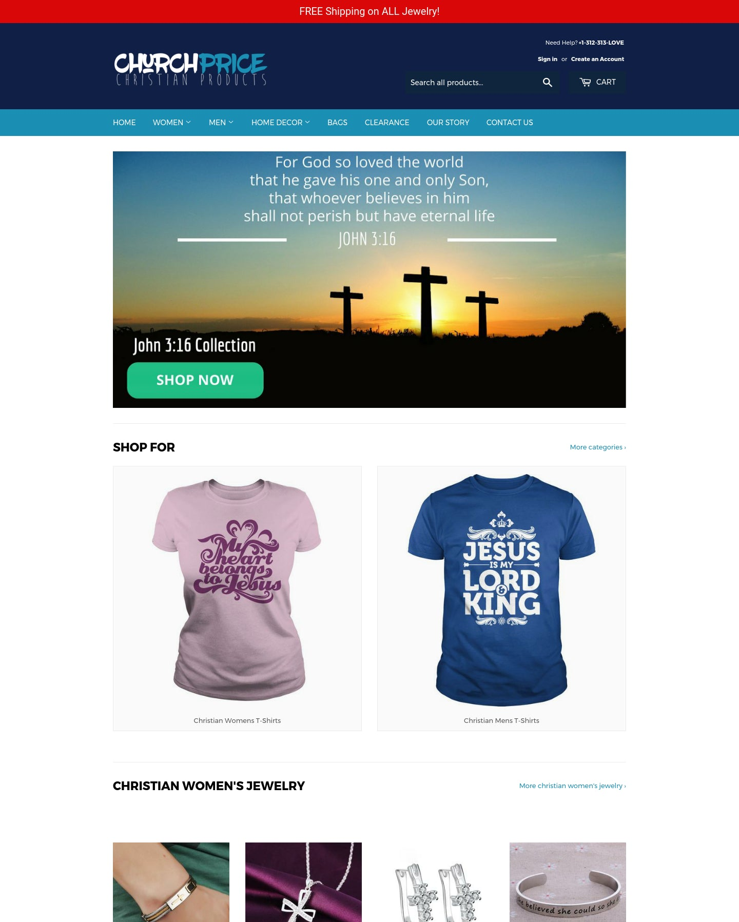 ChurchPrice - Christian Clothing, Jewelry & Home Decor Screenshot - 1