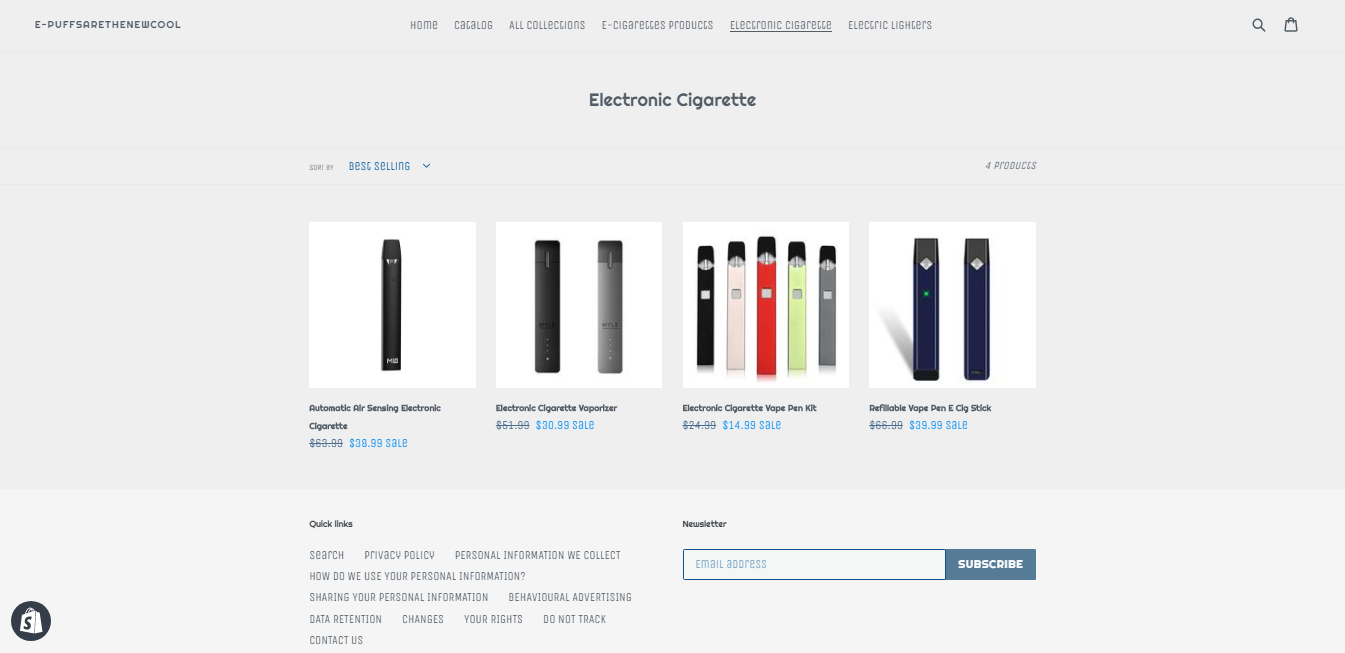 e-puffsarethenewcool For Sale | Buy an Online Business
