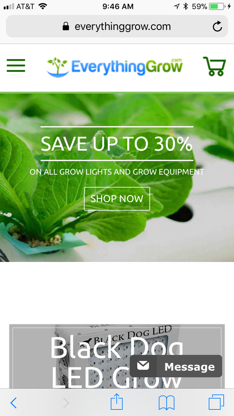 DropShipping business for LED Grow Lights and Grow Tents for sale (EverythingGrow.com) Screenshot - 4