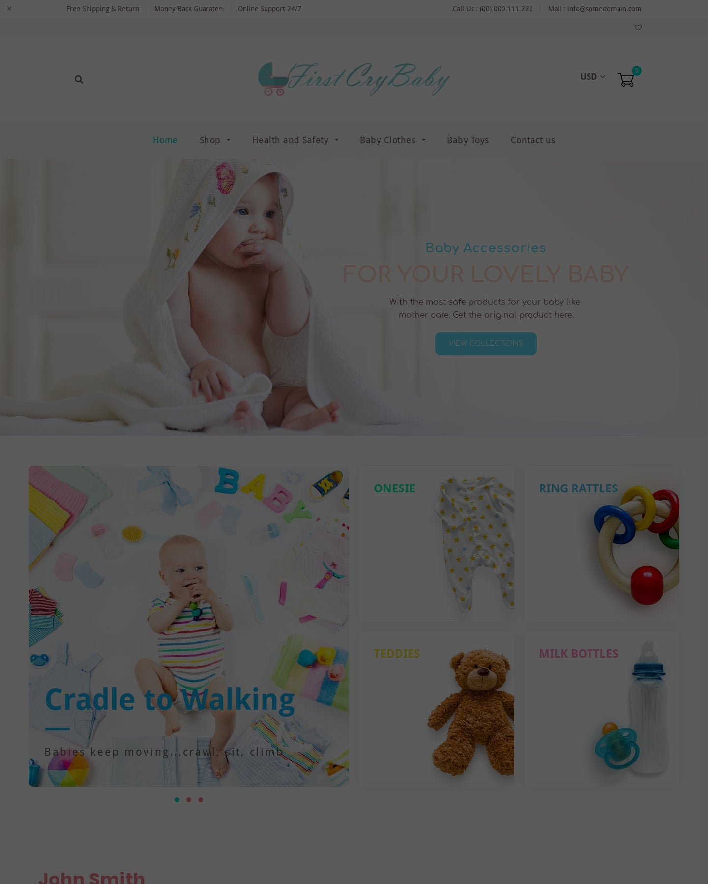 Baby Products Drop shipping website Screenshot - 2