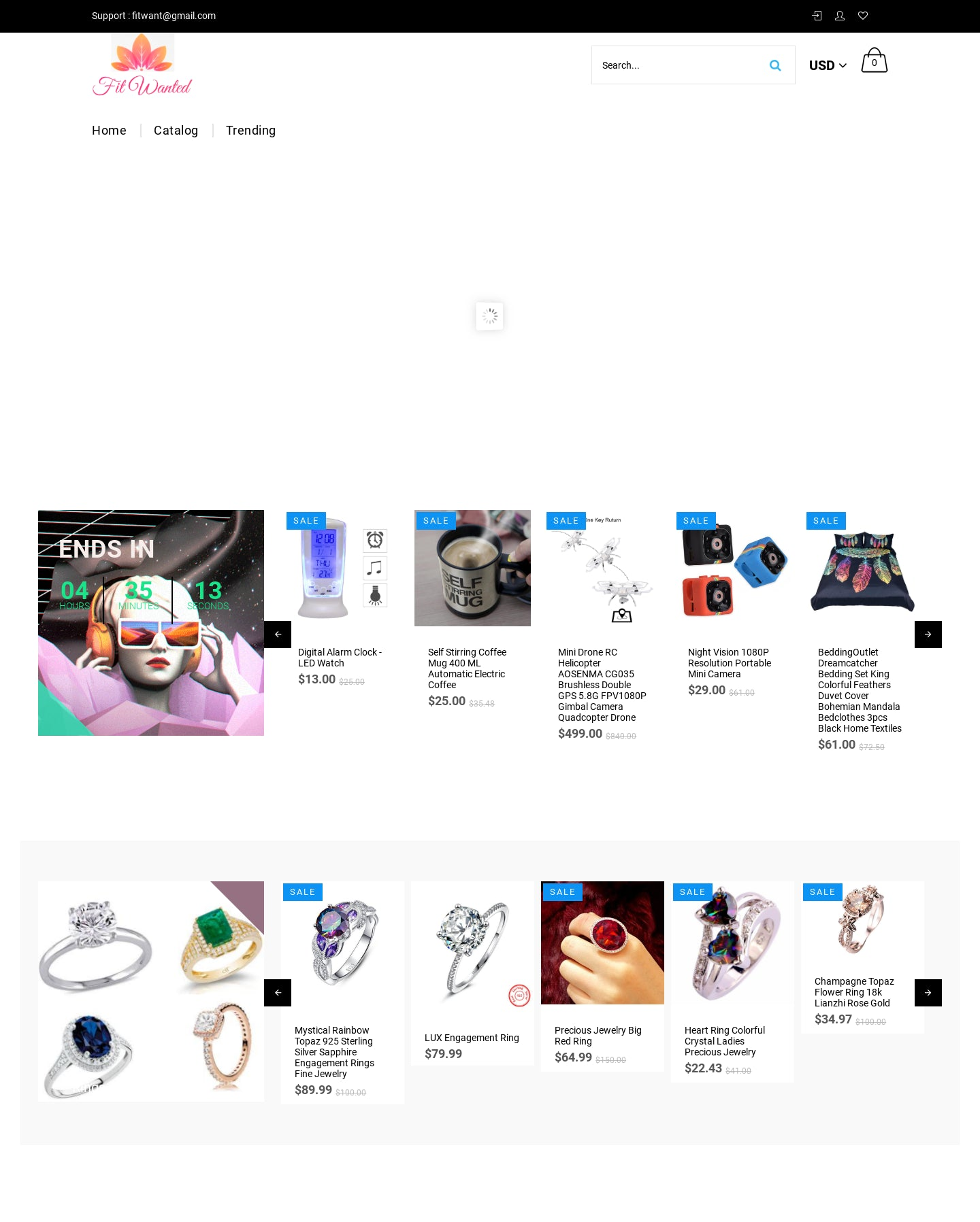 Fit Wanted Gym Luxury Gadgets Fit Sunglasses Ring Jewelry Cheap Store Screenshot - 5