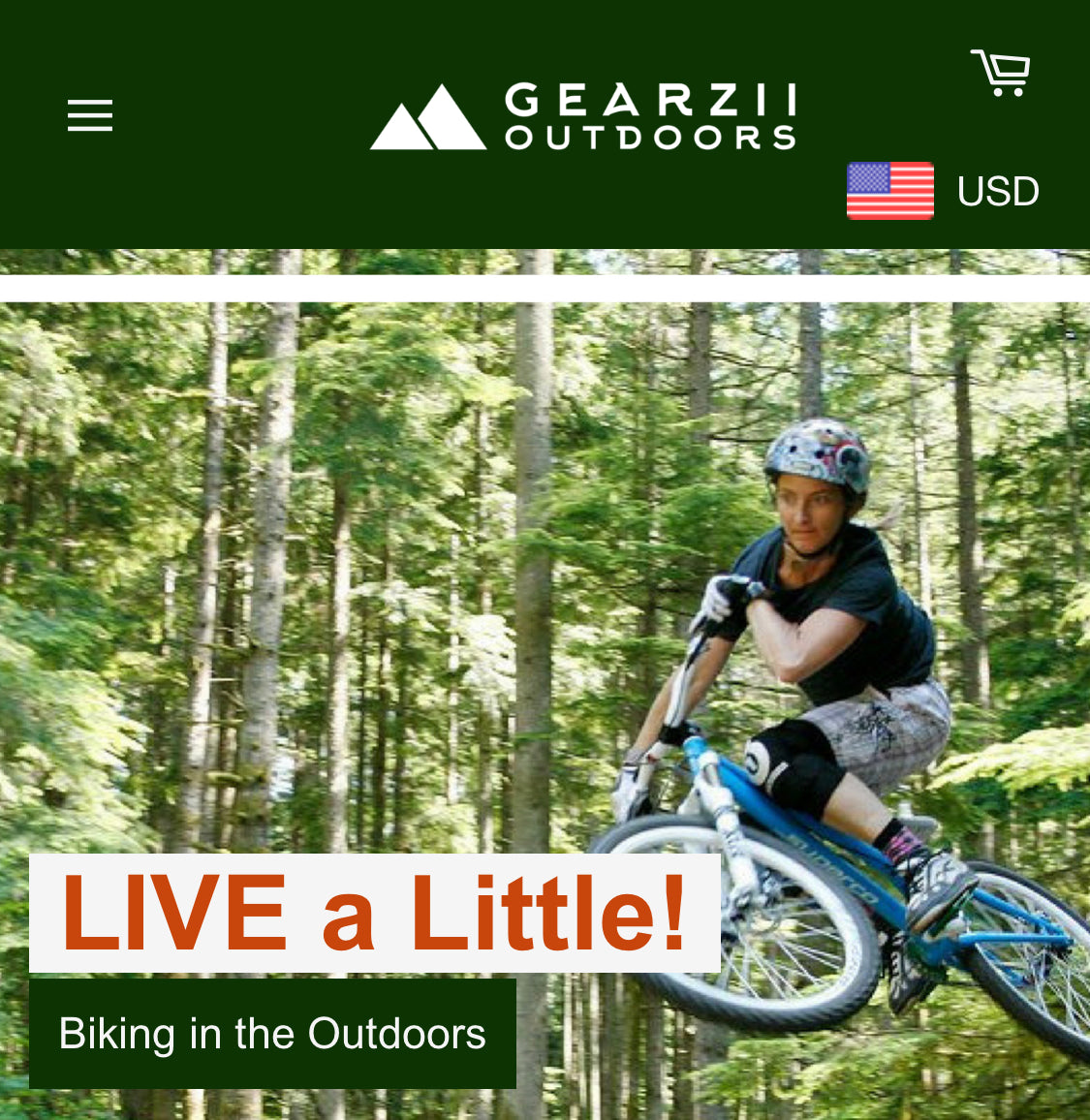 Gearzii Outdoors Screenshot - 2