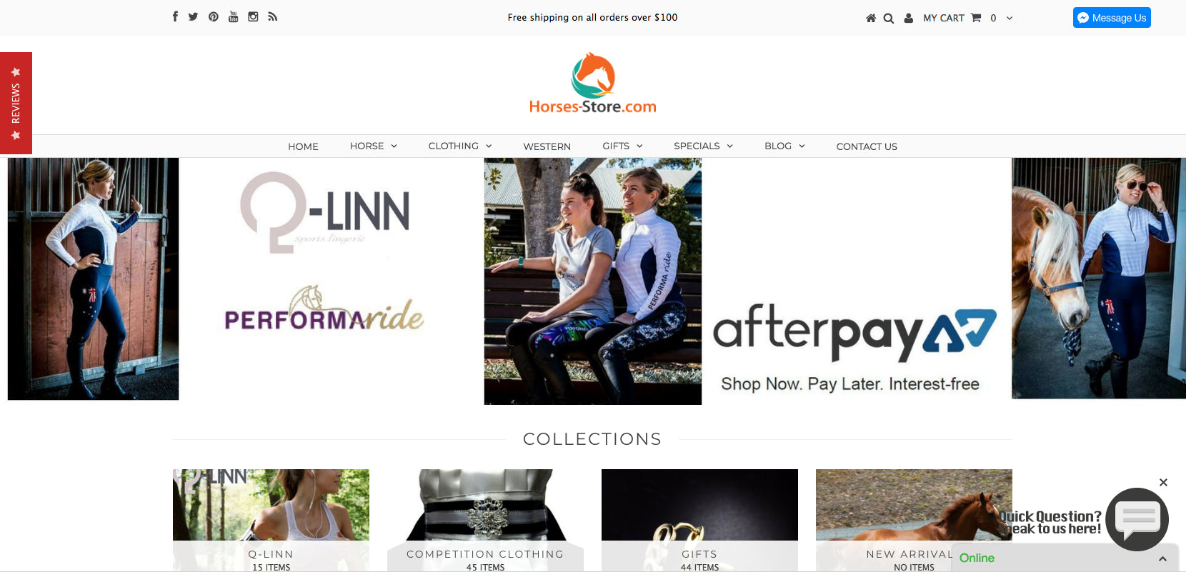 Horses-Store.com Screenshot - 2