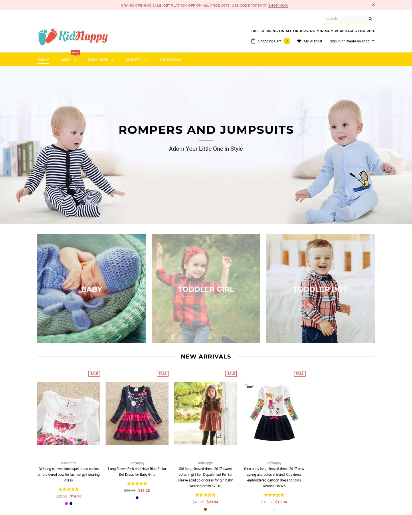 Consistent $6000/month Profit, Baby and Kids Apparel Dropshipping Store Screenshot - 1