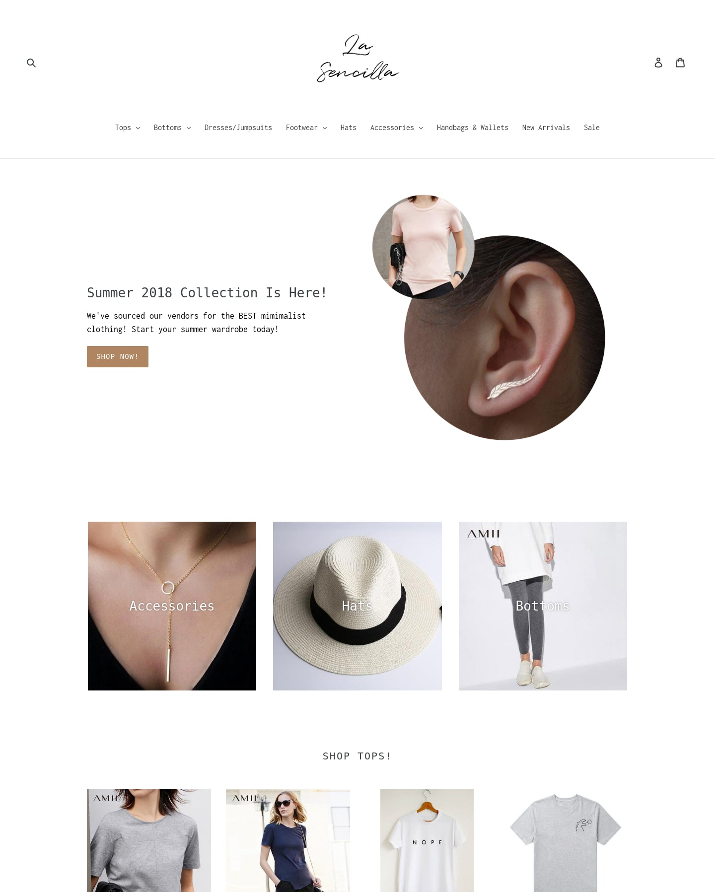 La Sencilla | Women's Fashion, Footwear, & Accessories Screenshot - 1