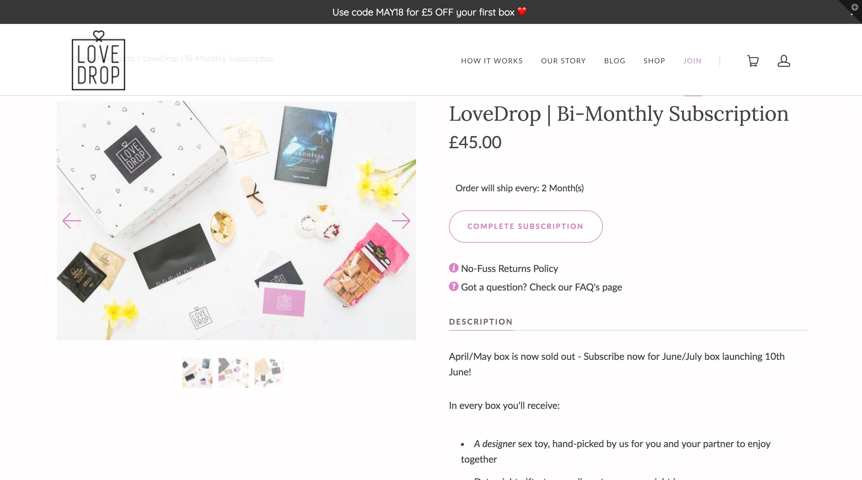 LoveDrop - The Date Night Subscription Box Screenshot - 3