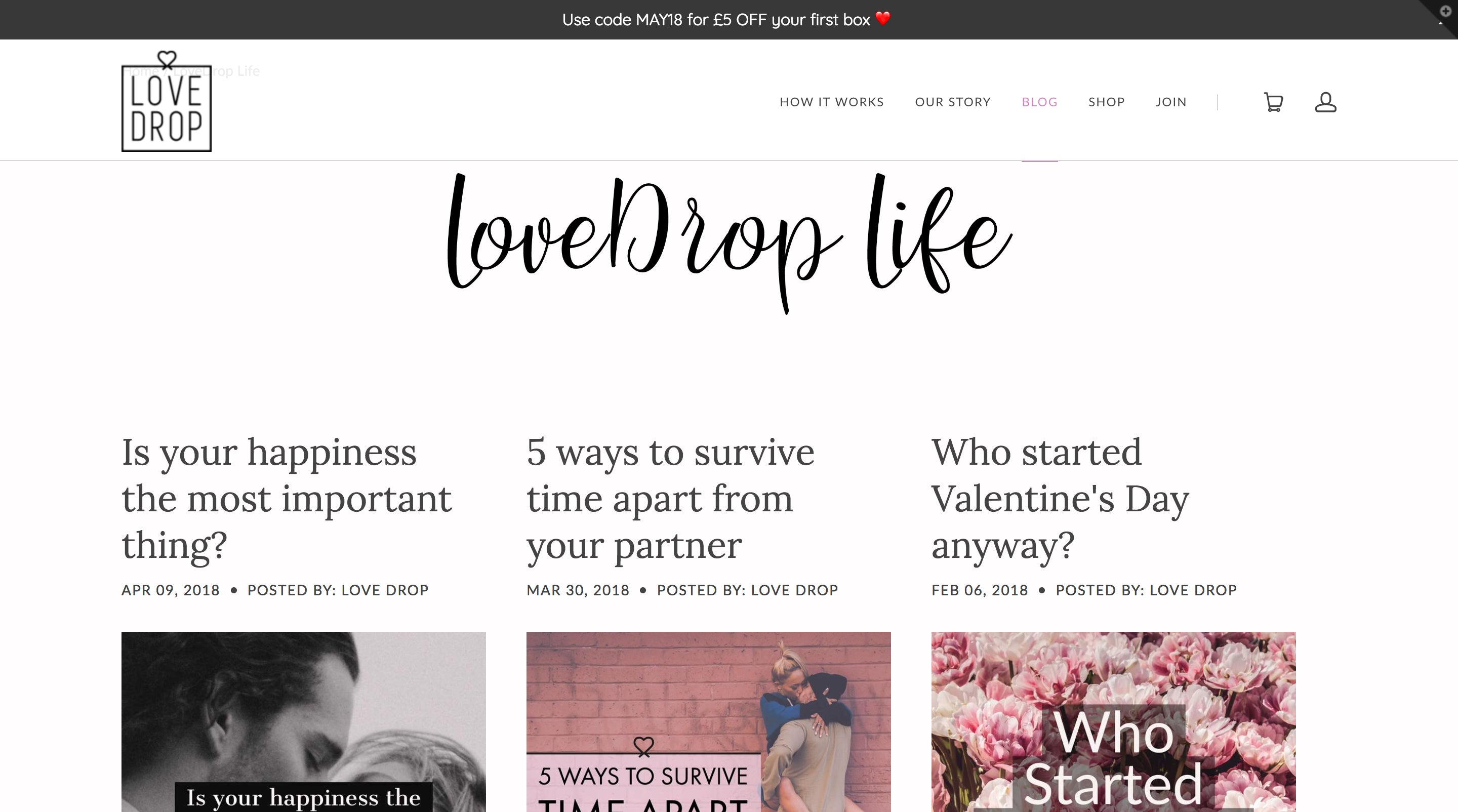 LoveDrop - The Date Night Subscription Box Screenshot - 4