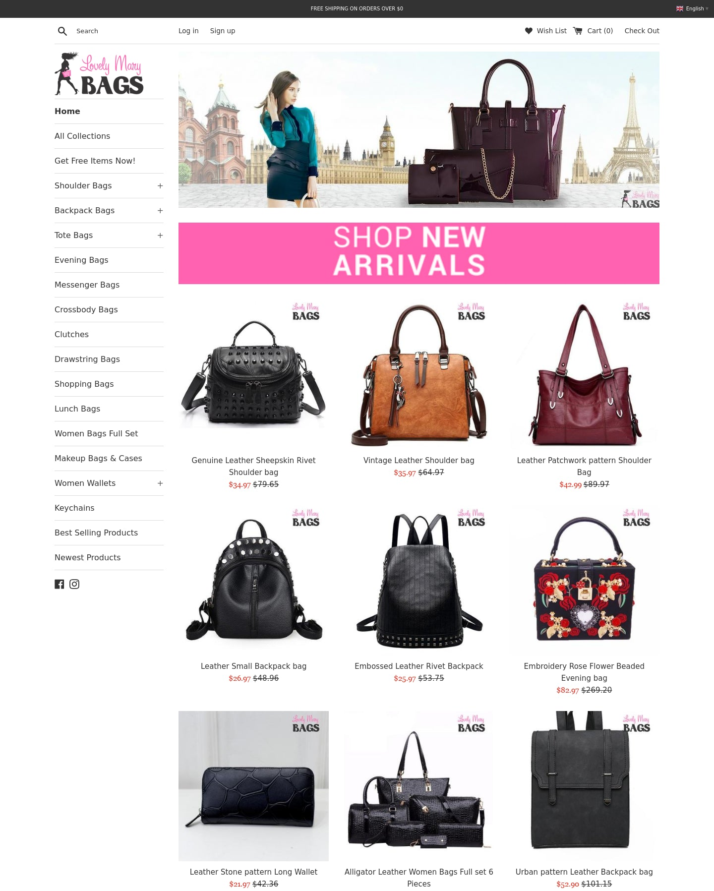 Lovely Mary Bags Store Screenshot - 1