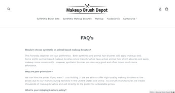 Makeup Brush Depot | Sold Store | Health and beauty Business