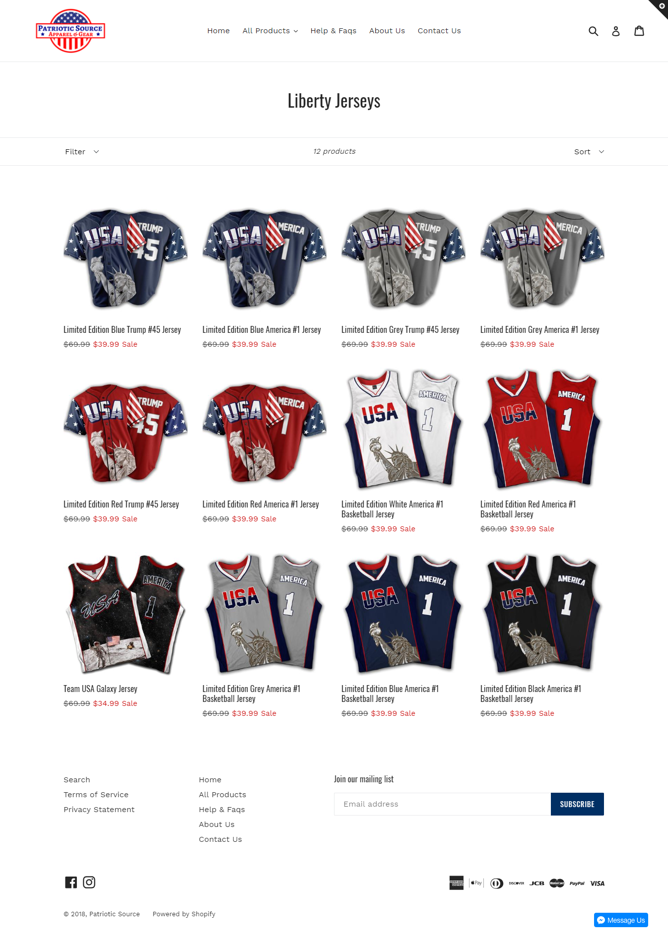 Patriotic Source | Sold Store | Fashion and apparel Business