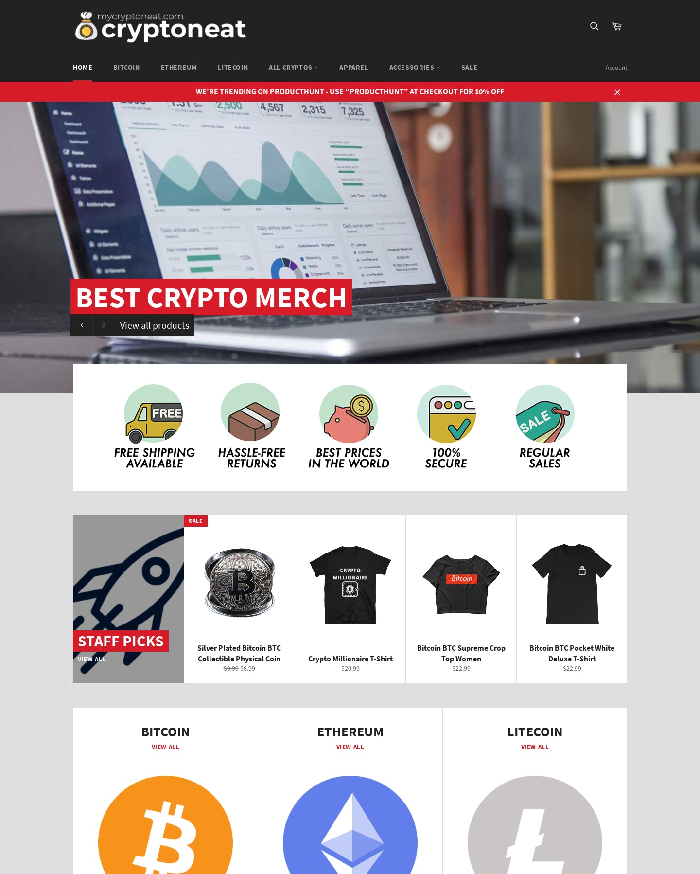 MyCryptoneat.com - Shop the best bitcoin t-shirts, apparel, and merch! Browse the 15 top altcoins cryptocurrency clothing (ETH, LTC, XRP, XLM,...). Screenshot - 6