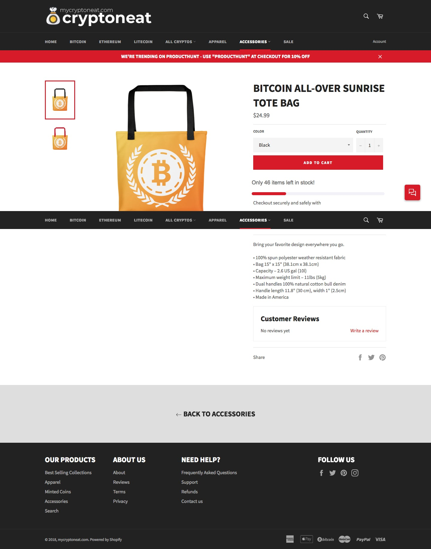 MyCryptoneat.com - Shop the best bitcoin t-shirts, apparel, and merch! Browse the 15 top altcoins cryptocurrency clothing (ETH, LTC, XRP, XLM,...). Screenshot - 2