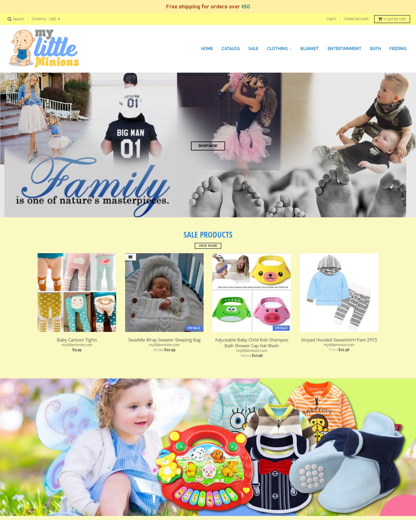 mylittleminion.com Screenshot - 2