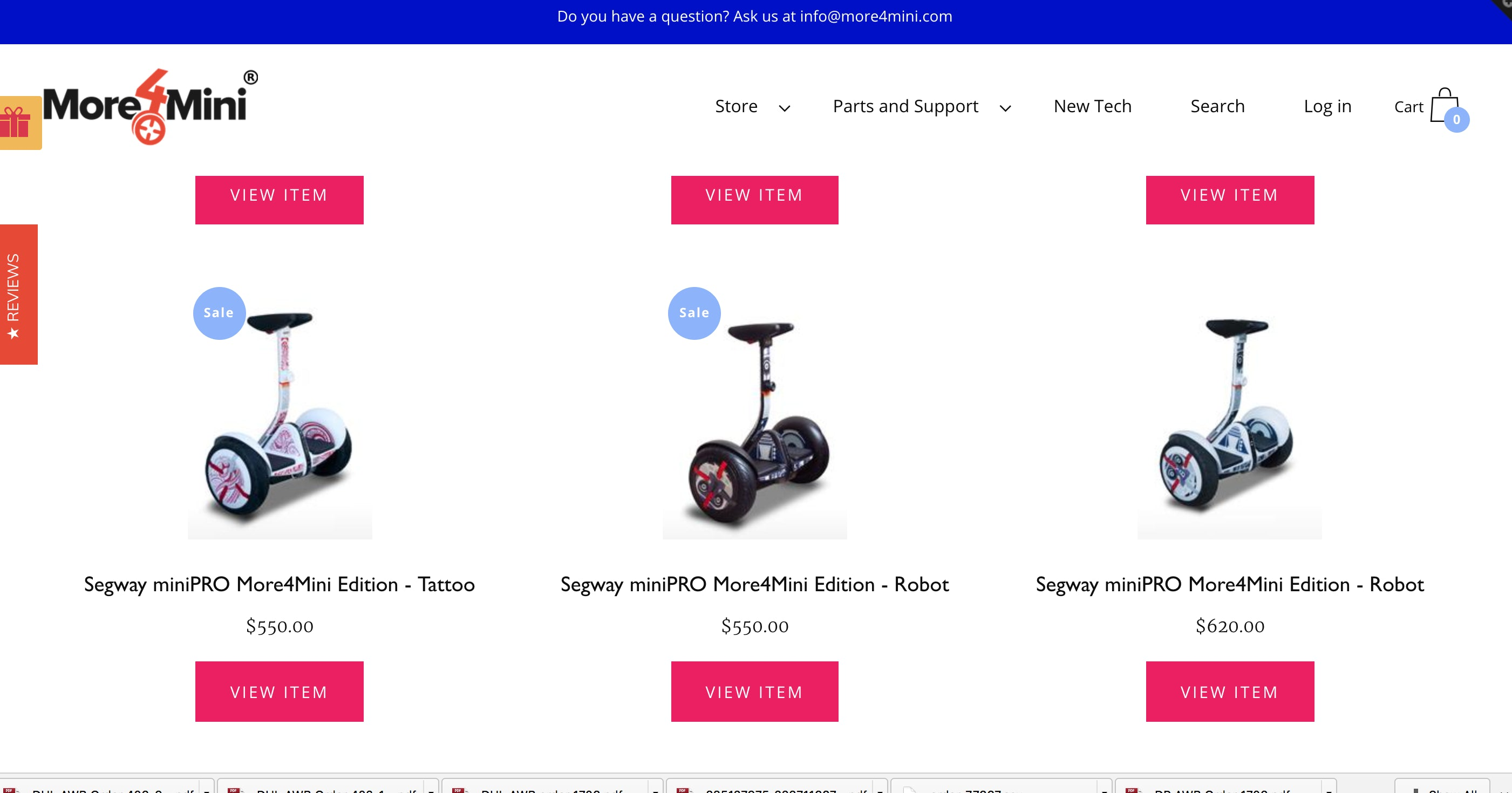 M4M Accessories and Parts for Electric Scooters Screenshot - 1