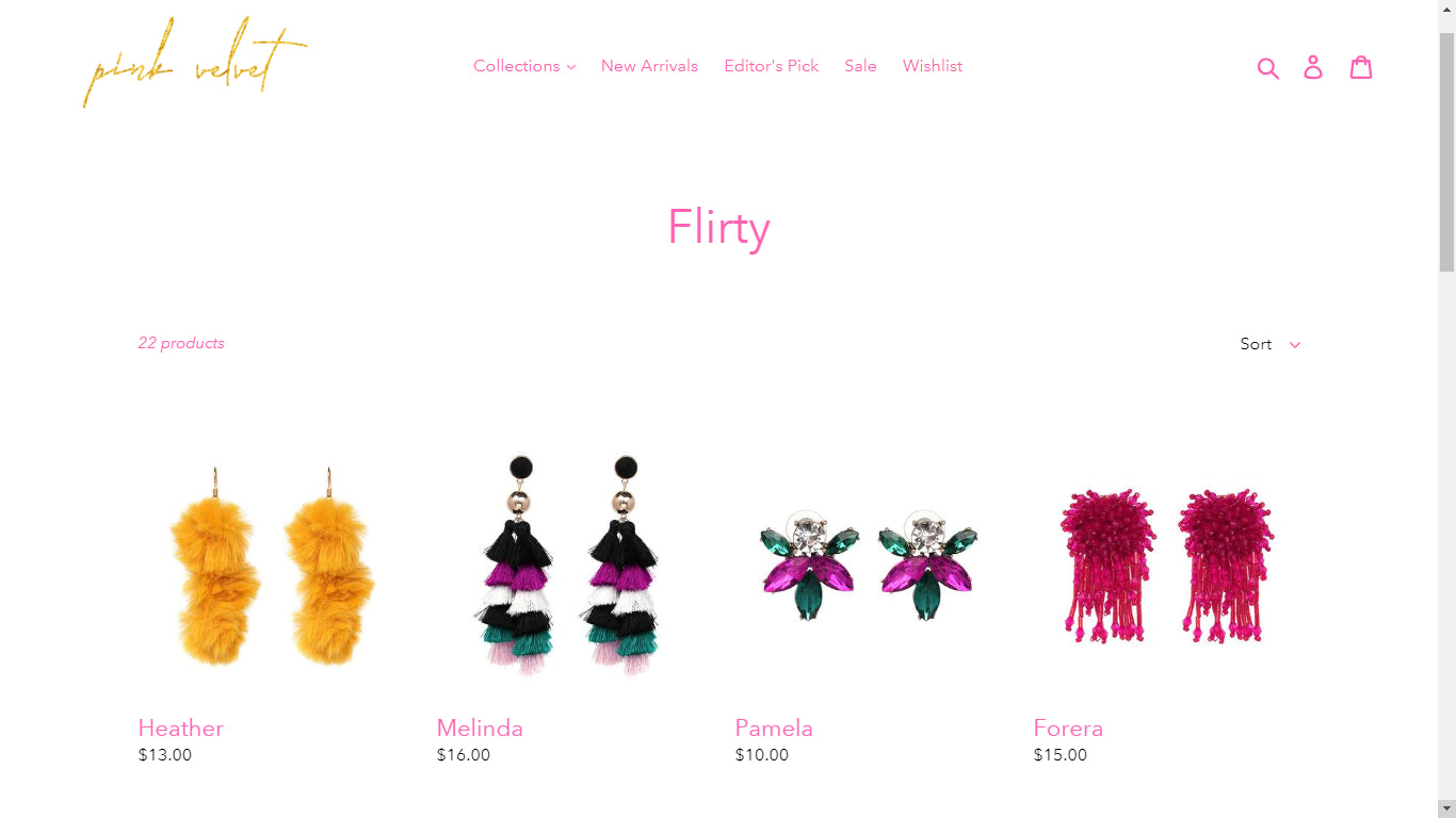 Pink Velvet Jewelry Co Screenshot - 1