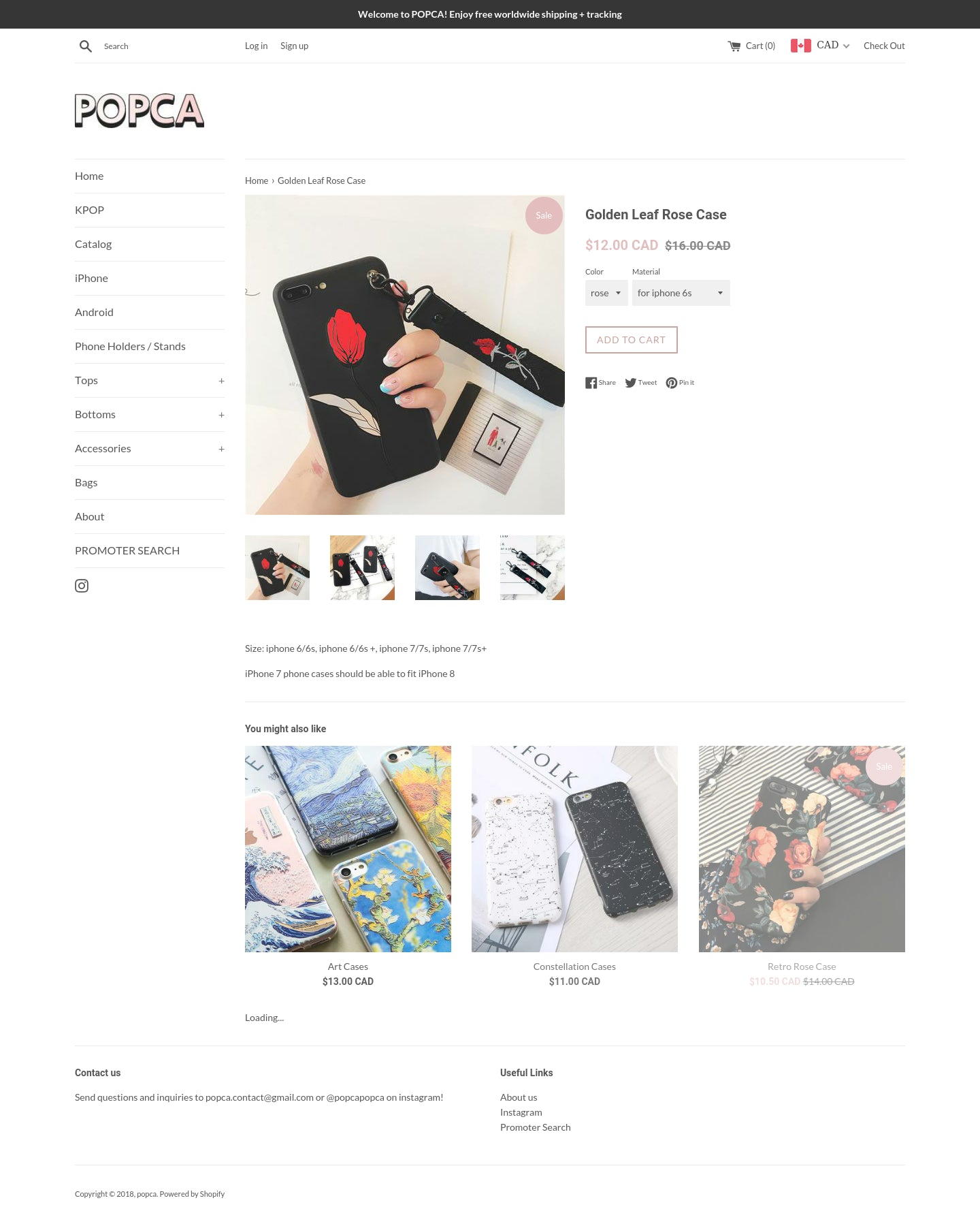 POPCA.ca (Aesthetic & Well Branded Dropshipping) Screenshot - 1