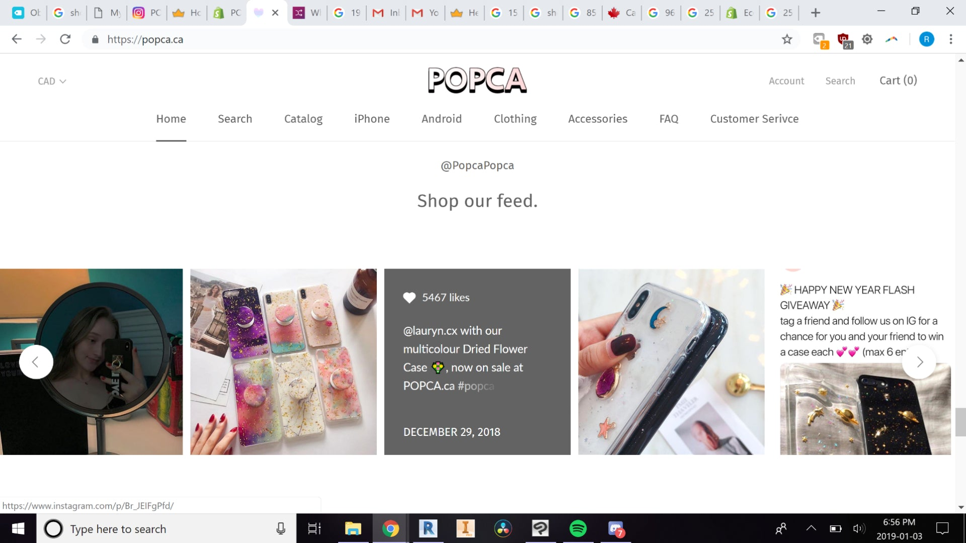 POPCA.ca (Aesthetic & Well Branded Dropshipping) Screenshot - 2