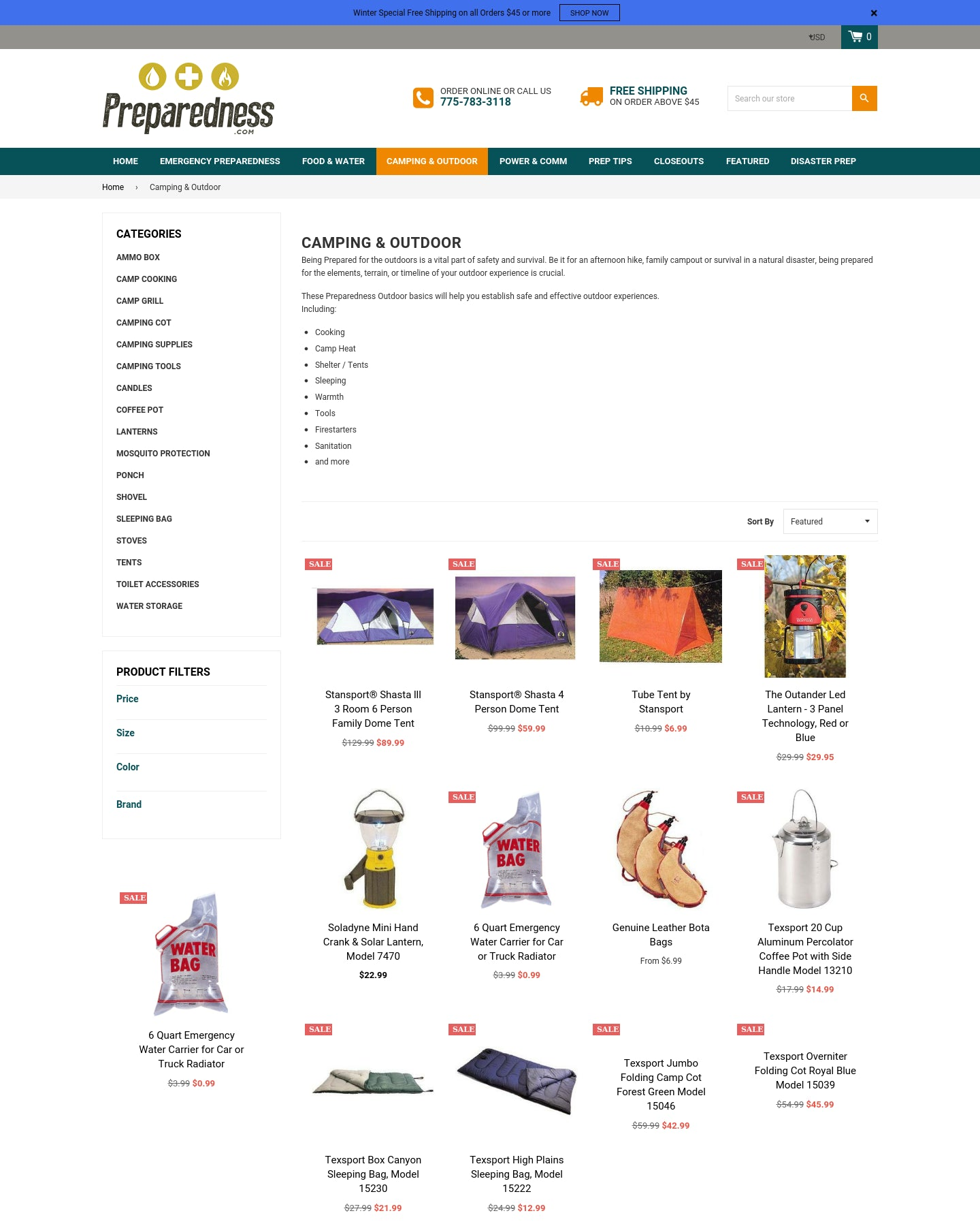 Preparedness.com Screenshot - 1