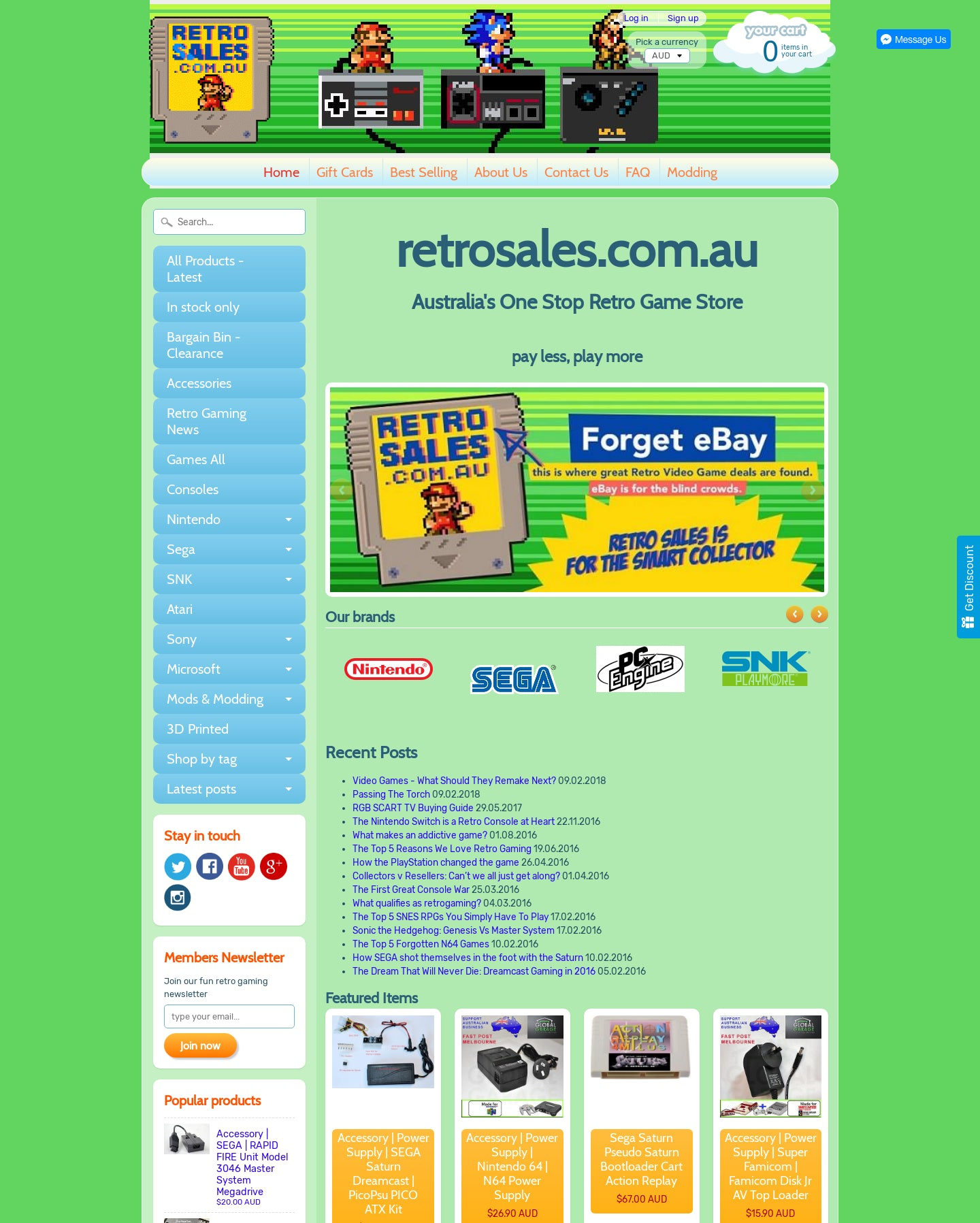 retrosales.com.au Screenshot - 1
