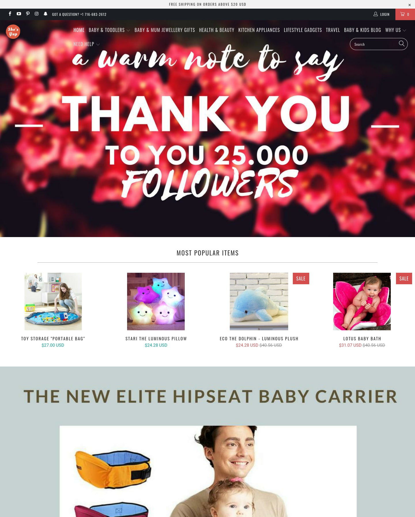 She's Yup *HUGE POTENTIAL 15K Monthly Easily *Baby, Women, General Store * Optimized for Mobile Shopping ! Screenshot - 1