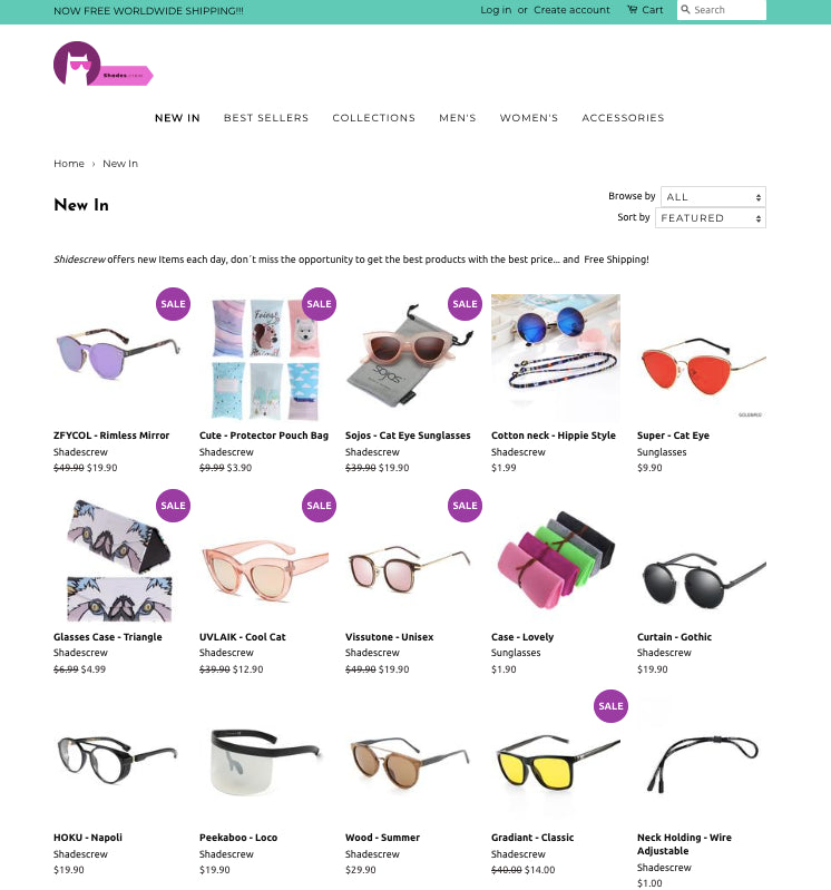 Shades Crew - Love Sunglasses? Why not turn your passion it into a very lucrative online business with a minimum of 100% markups in a hot niche!? Screenshot - 4
