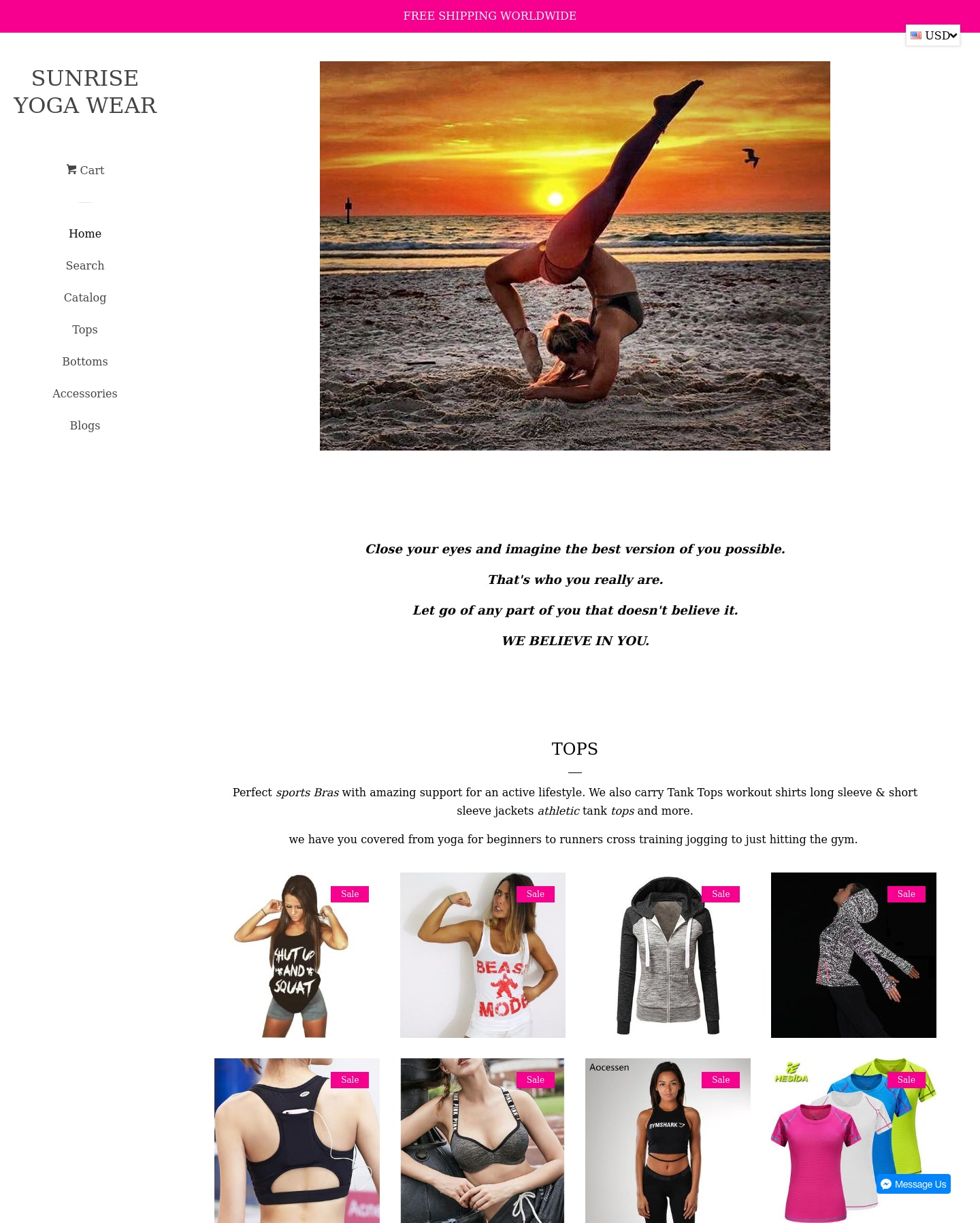 Sunrise Yoga Wear Screenshot - 1