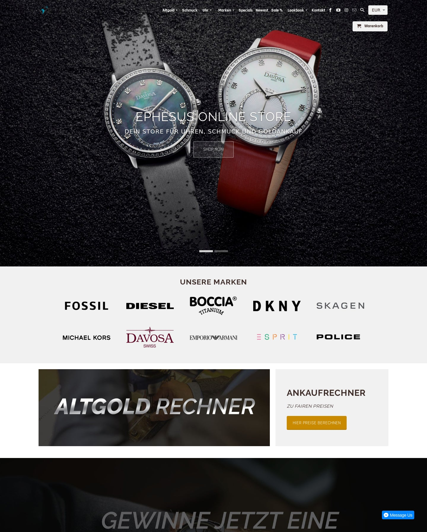 Online Shop for Watches and Jewellery Screenshot - 2