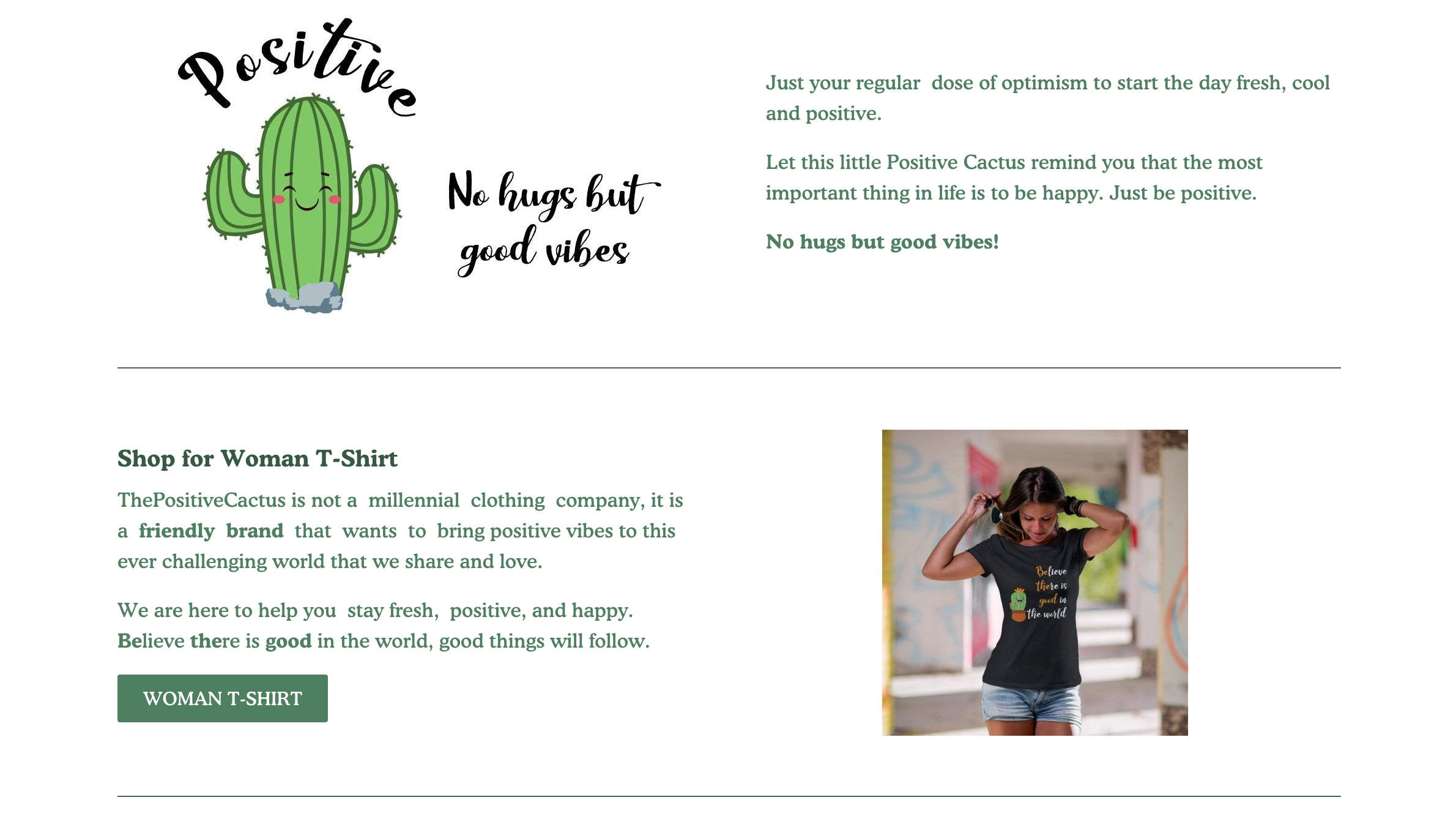 ThePositiveCactus Printing On Demand Shopify Store with Tremendous Growth Opportunity Screenshot - 4