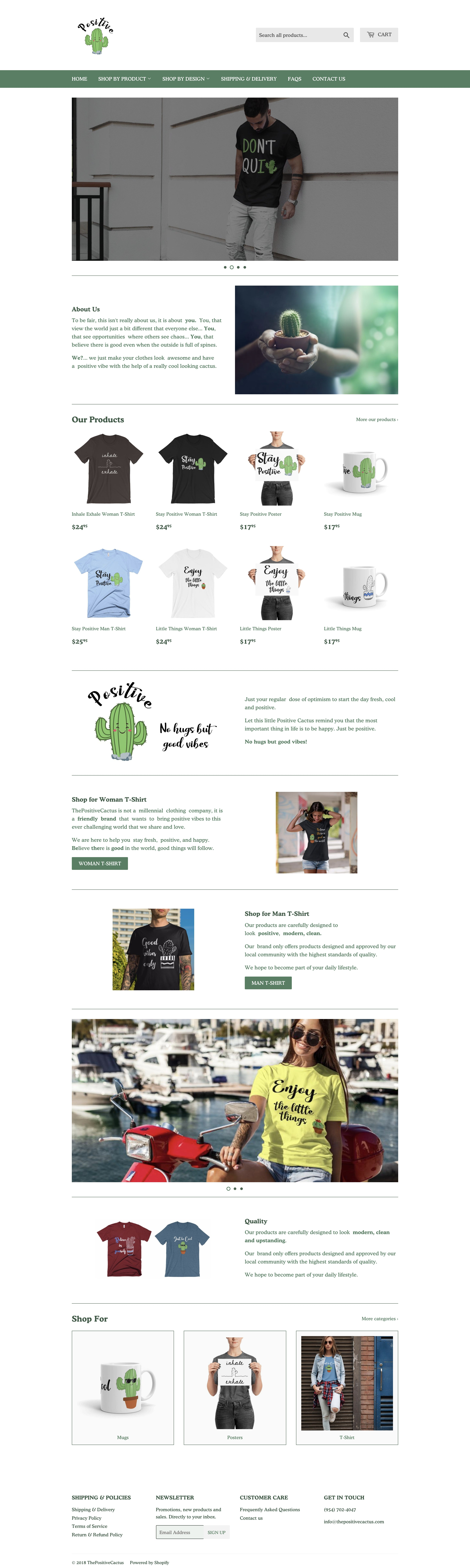ThePositiveCactus Printing On Demand Shopify Store with Tremendous Growth Opportunity Screenshot - 2