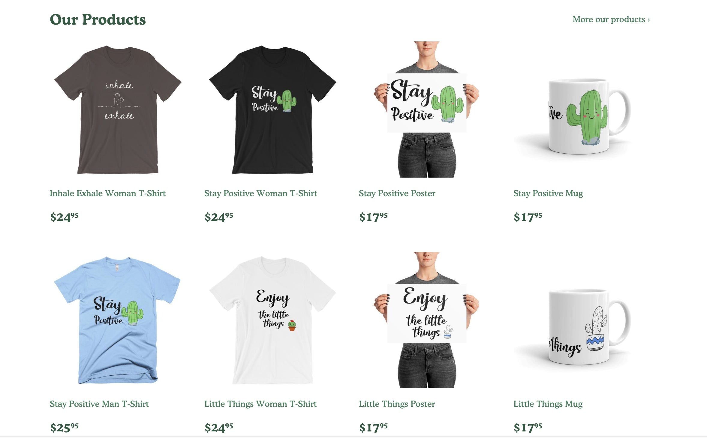 ThePositiveCactus Printing On Demand Shopify Store with Tremendous Growth Opportunity Screenshot - 3