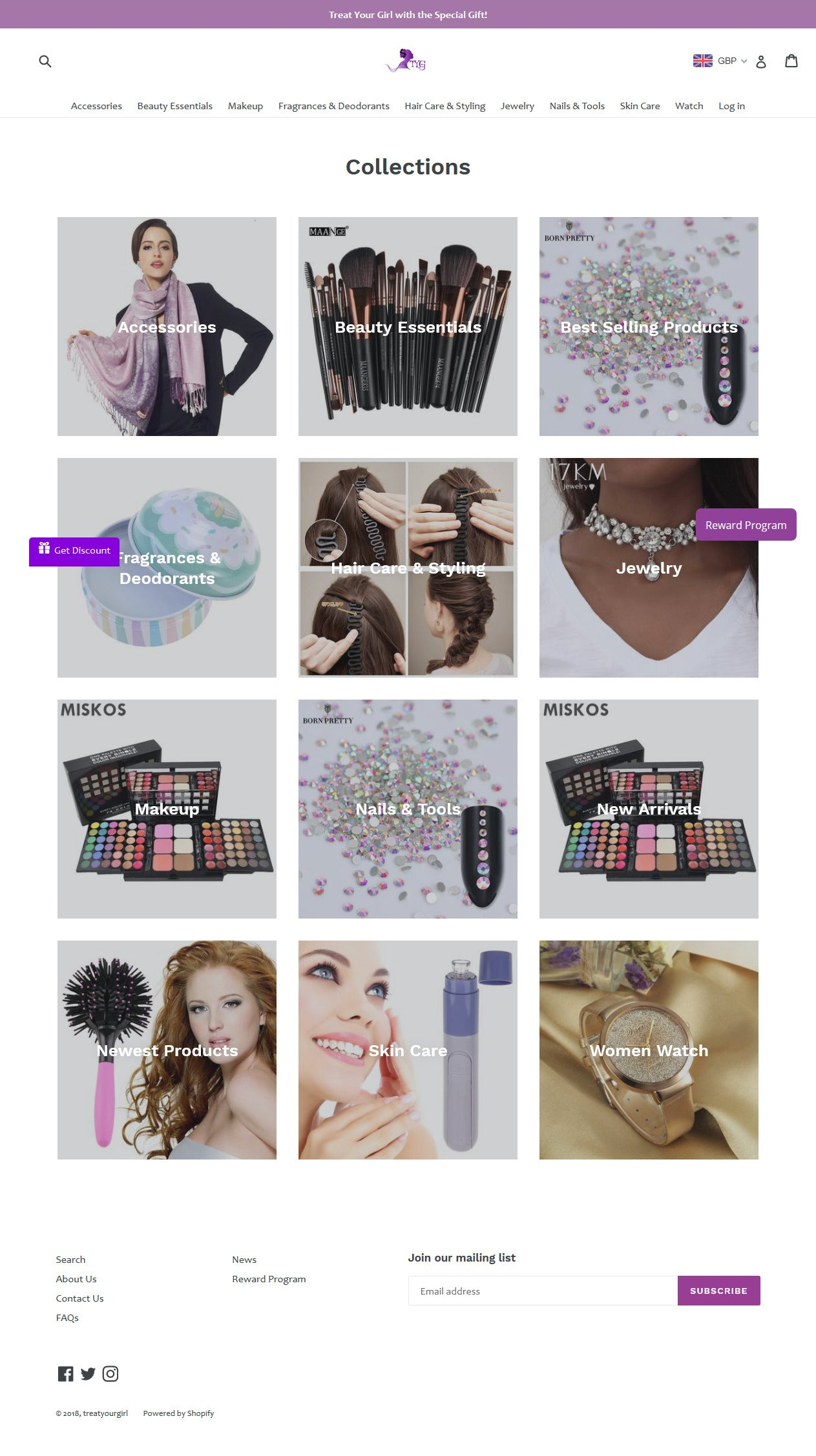 Online Store for Gift for Girls Screenshot - 2
