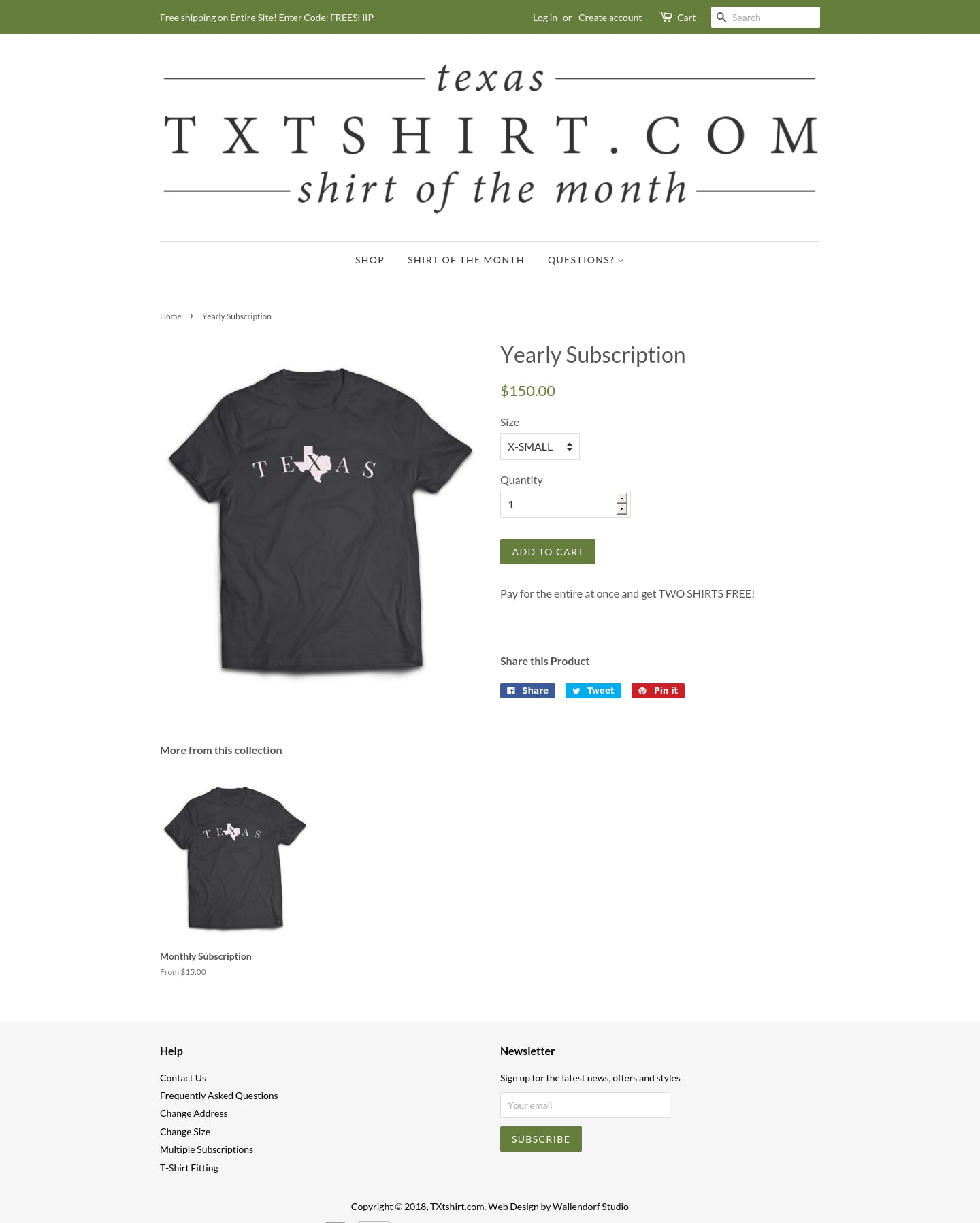 TXtshirt.com Screenshot - 1
