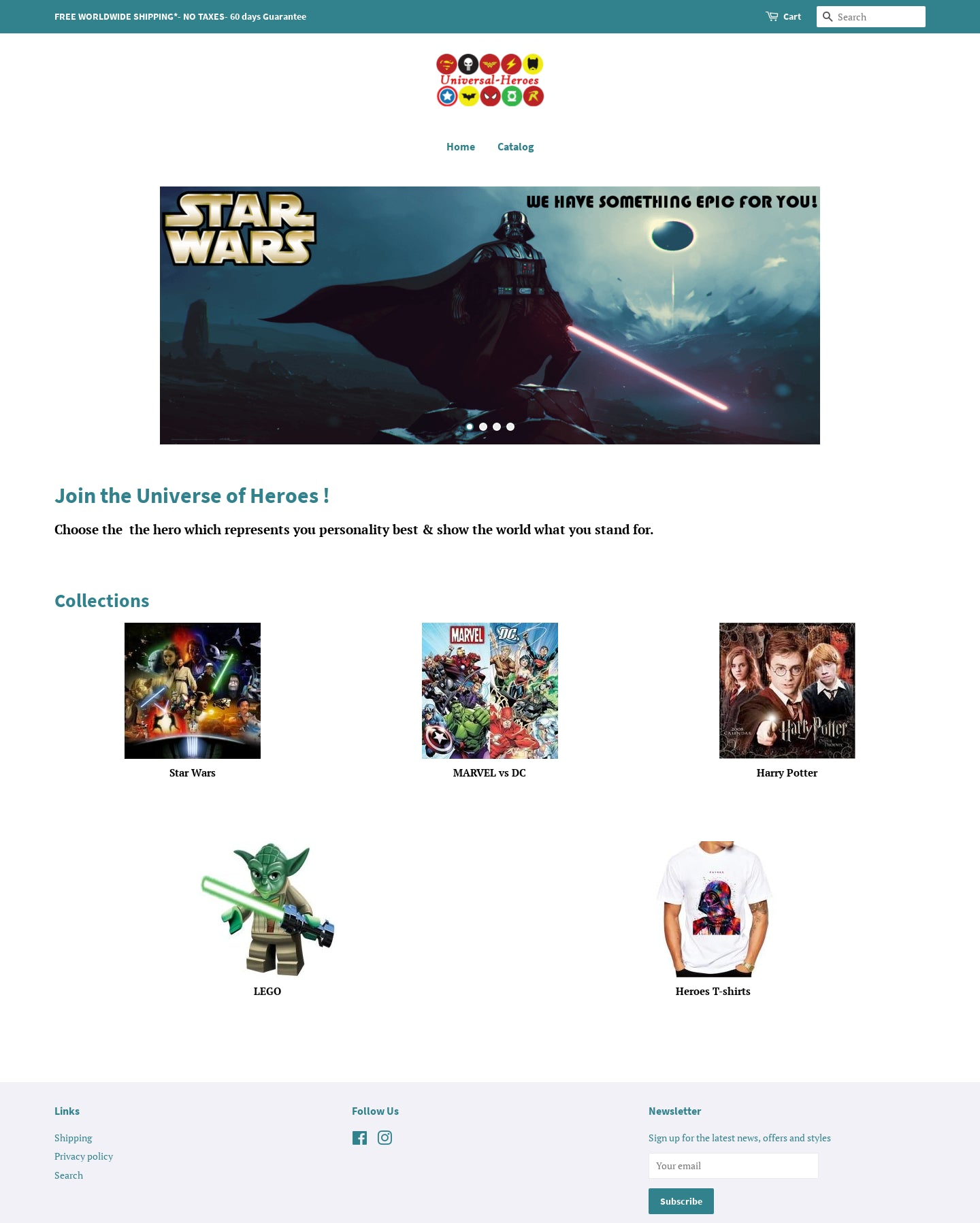 Fully set up Niche DC Marvel e-Commerce Store For Sale Screenshot - 1