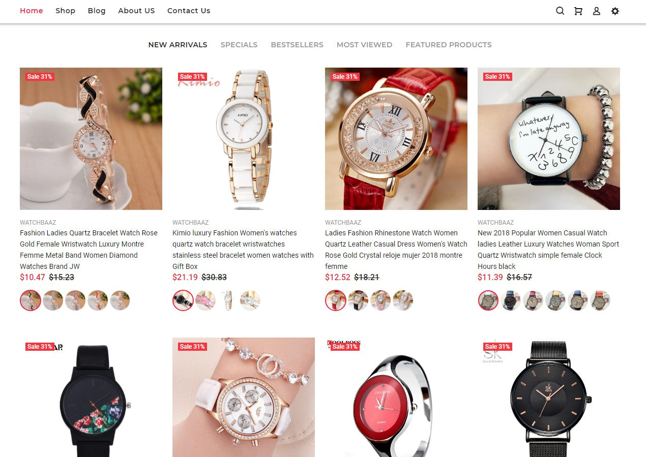 Premium quality dropshipping watch store Screenshot - 3