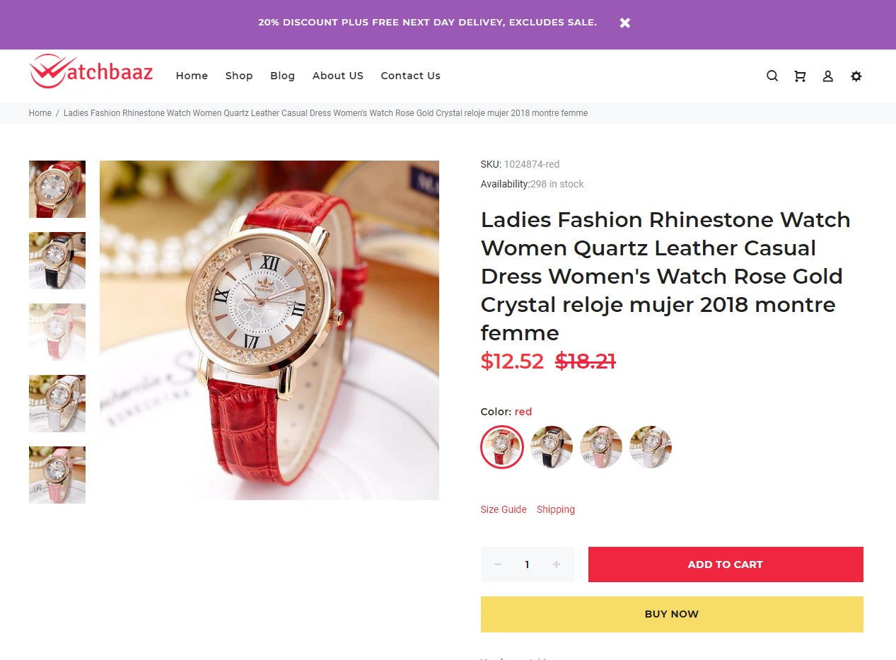 Premium quality dropshipping watch store Screenshot - 4