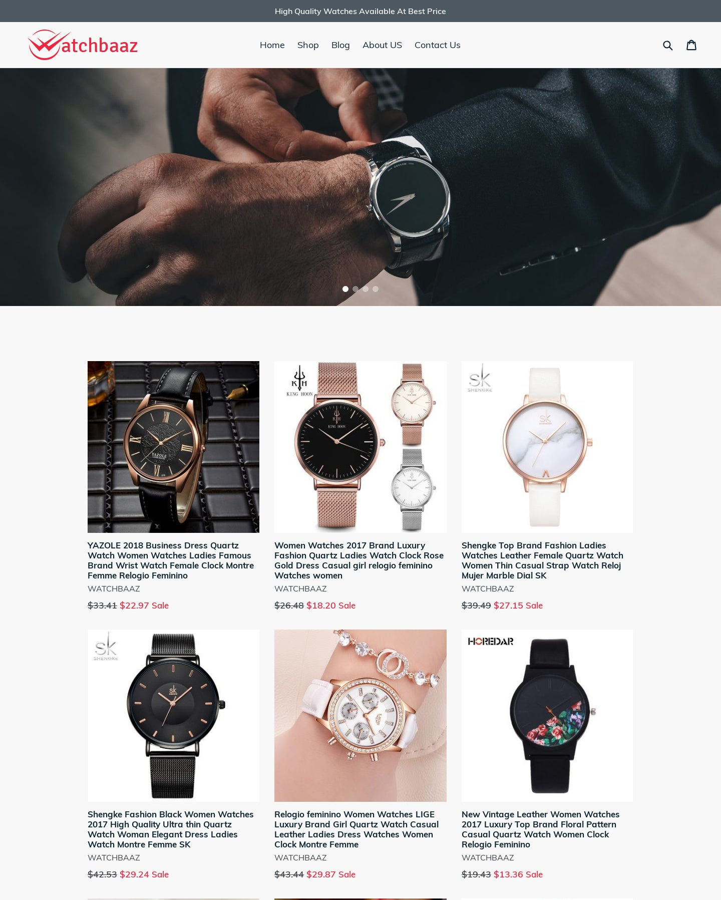 Premium quality dropshipping watch store Screenshot - 1
