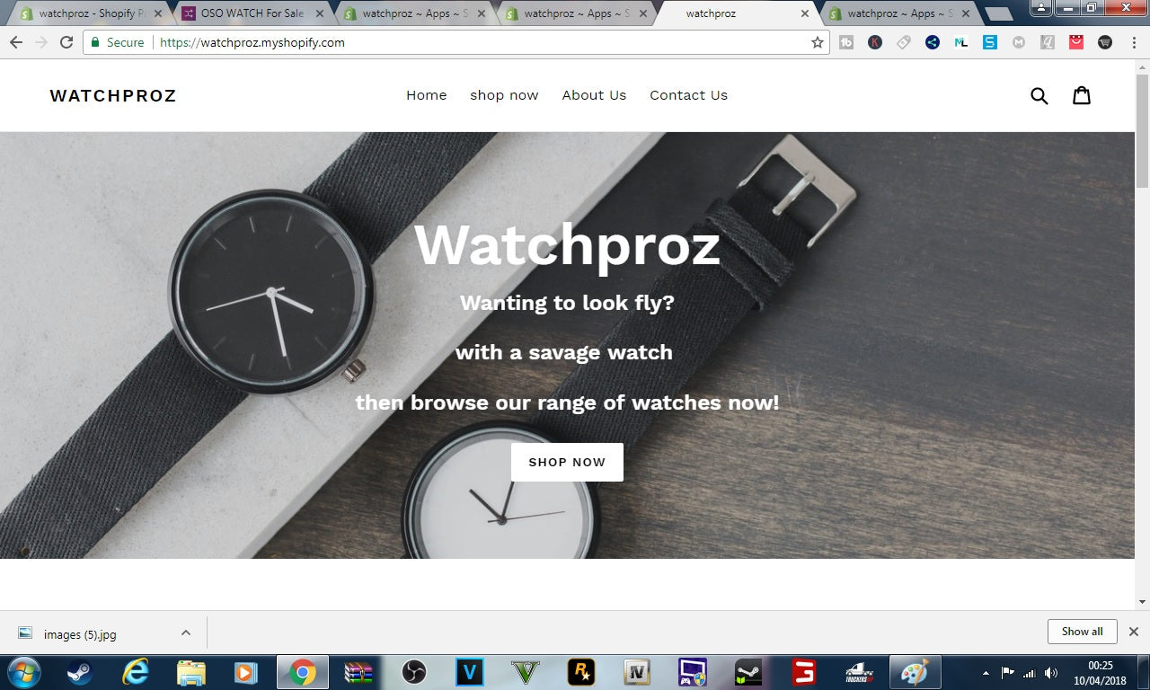 watchproz shopify store ideal for dropshipping watches  Screenshot - 3