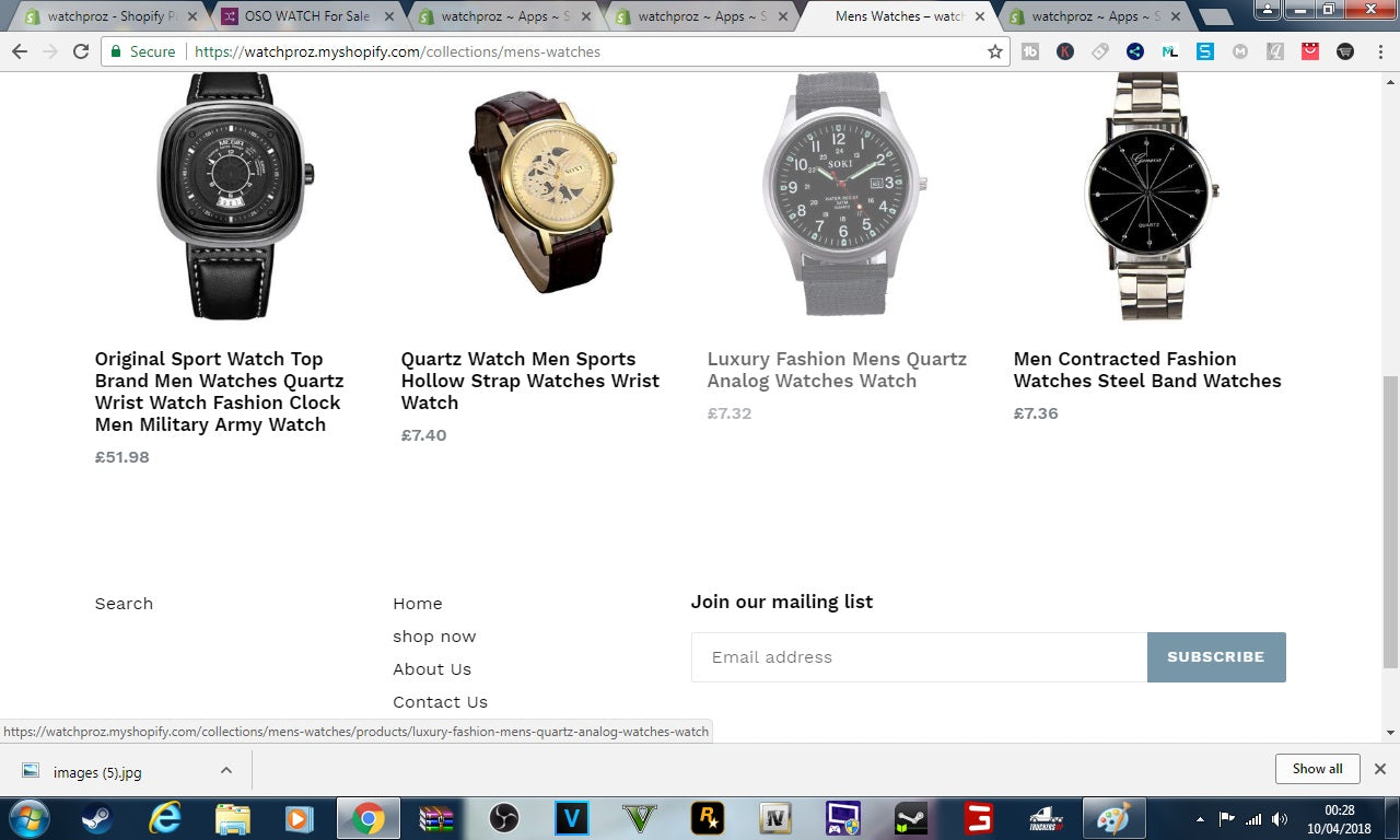 watchproz shopify store ideal for dropshipping watches  Screenshot - 2
