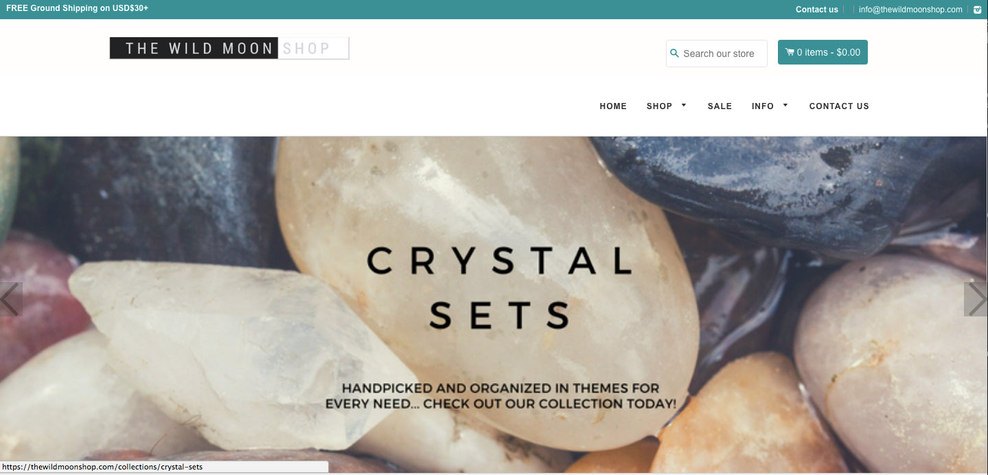 Crystal Shop - USA Supplier. Fast shipping. Comes with Booster Theme ($197 value) Screenshot - 2